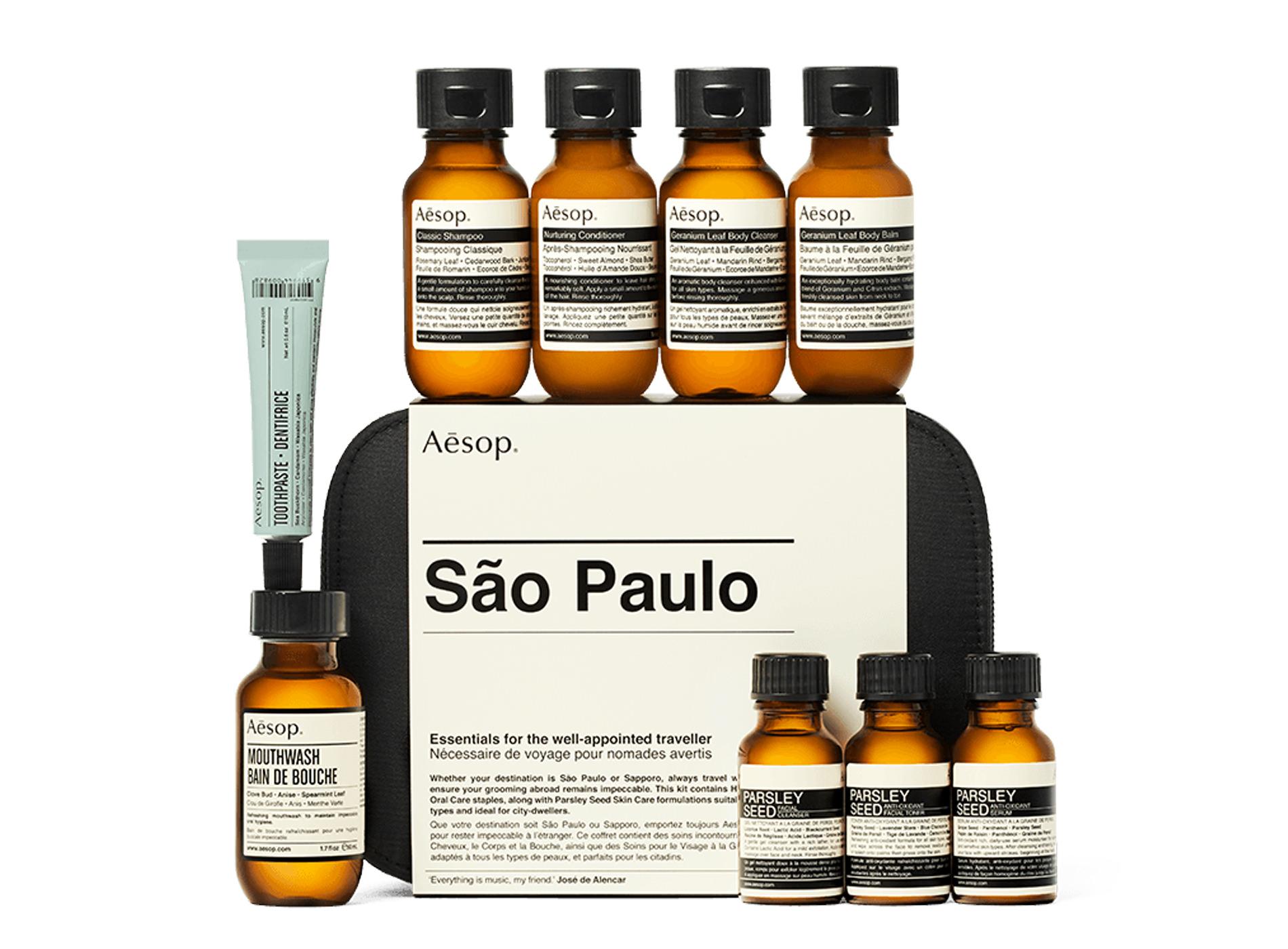 Aesop Coffret Voyage São Paulo