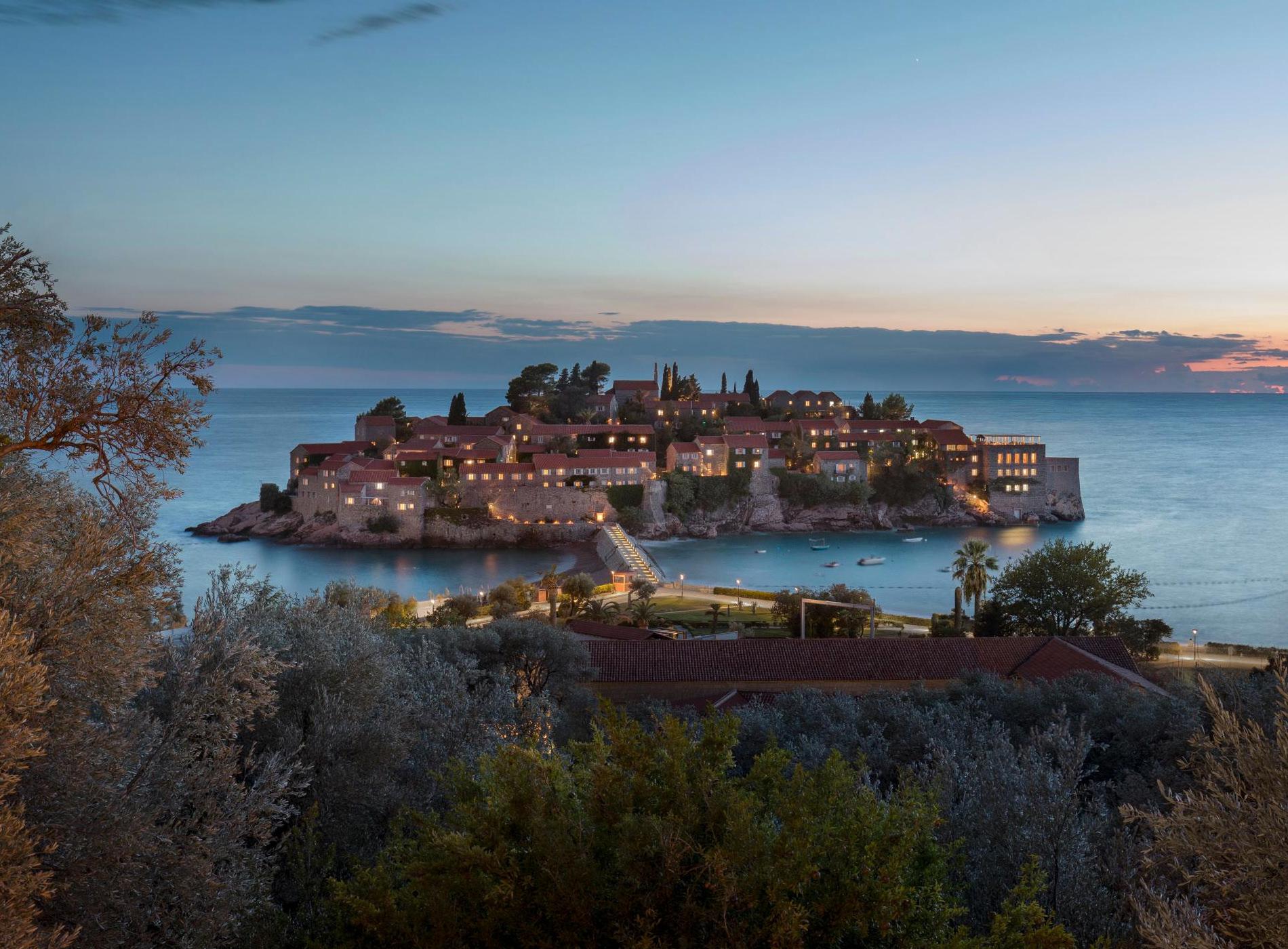 Aman Sveti Stefan Montenegro Hôtel Vue Lointaine