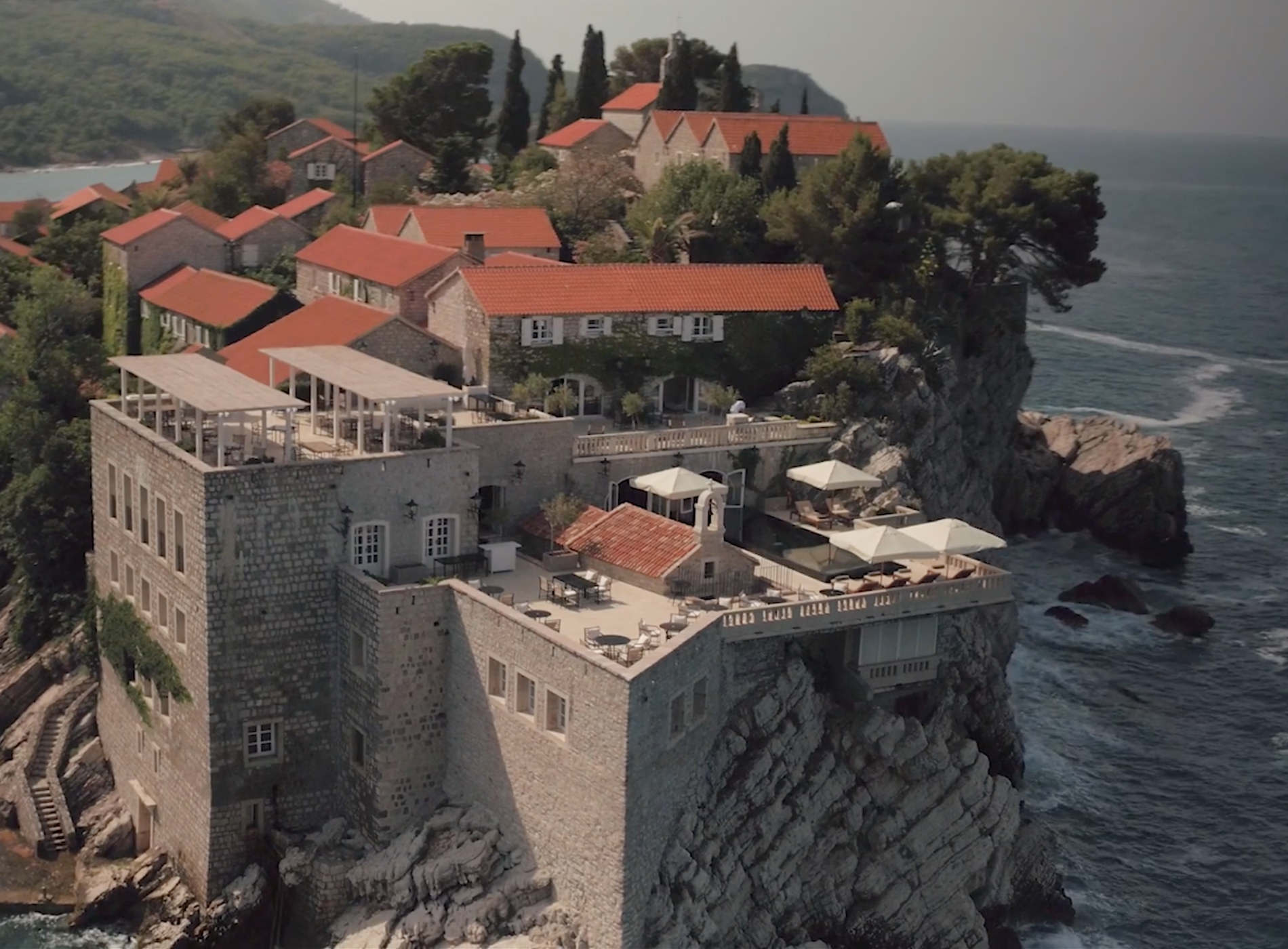 Aman Sveti Stefan Montenegro Hôtel Village île 15eme siècle