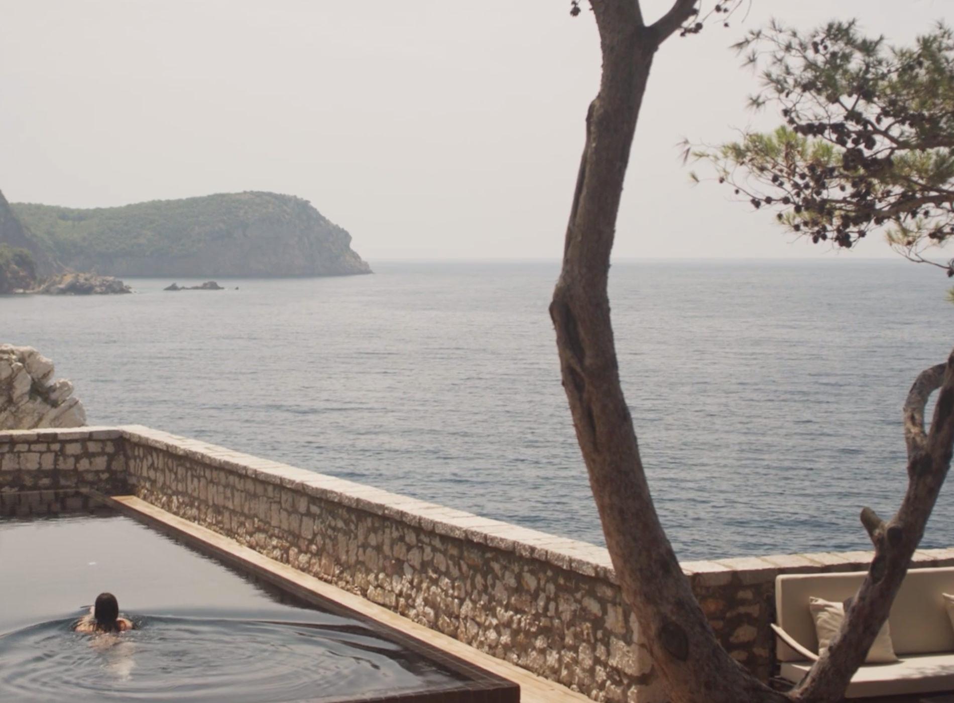 Aman Sveti Stefan Montenegro Hôtel Piscine Vue