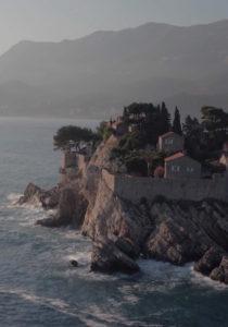 Aman Sveti Stefan Montenegro Hôtel Vue Aérienne Île Falaises