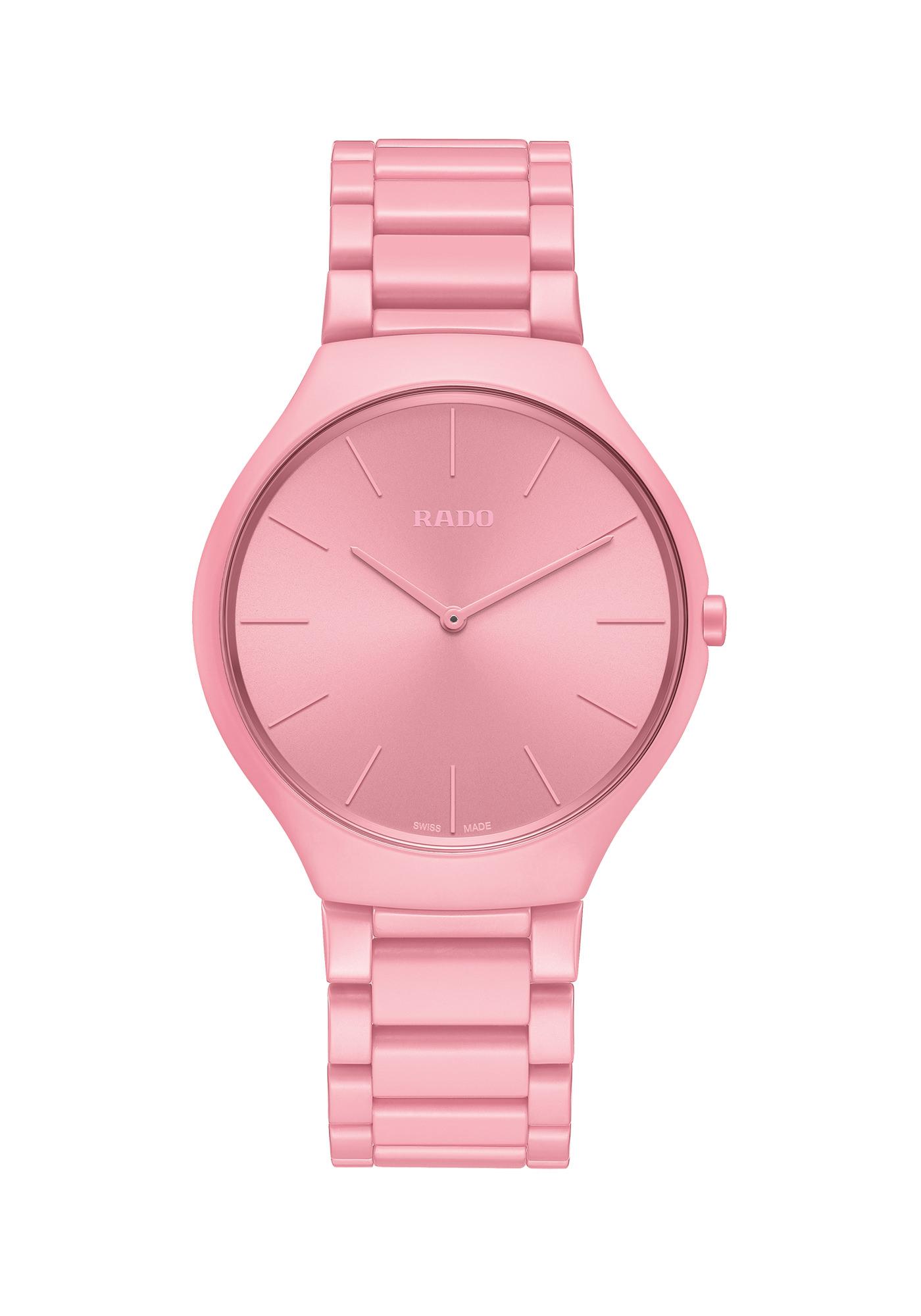 Rado Montres True Thinline Les Couleurs Le Corbusier Luminous Pink 4320c