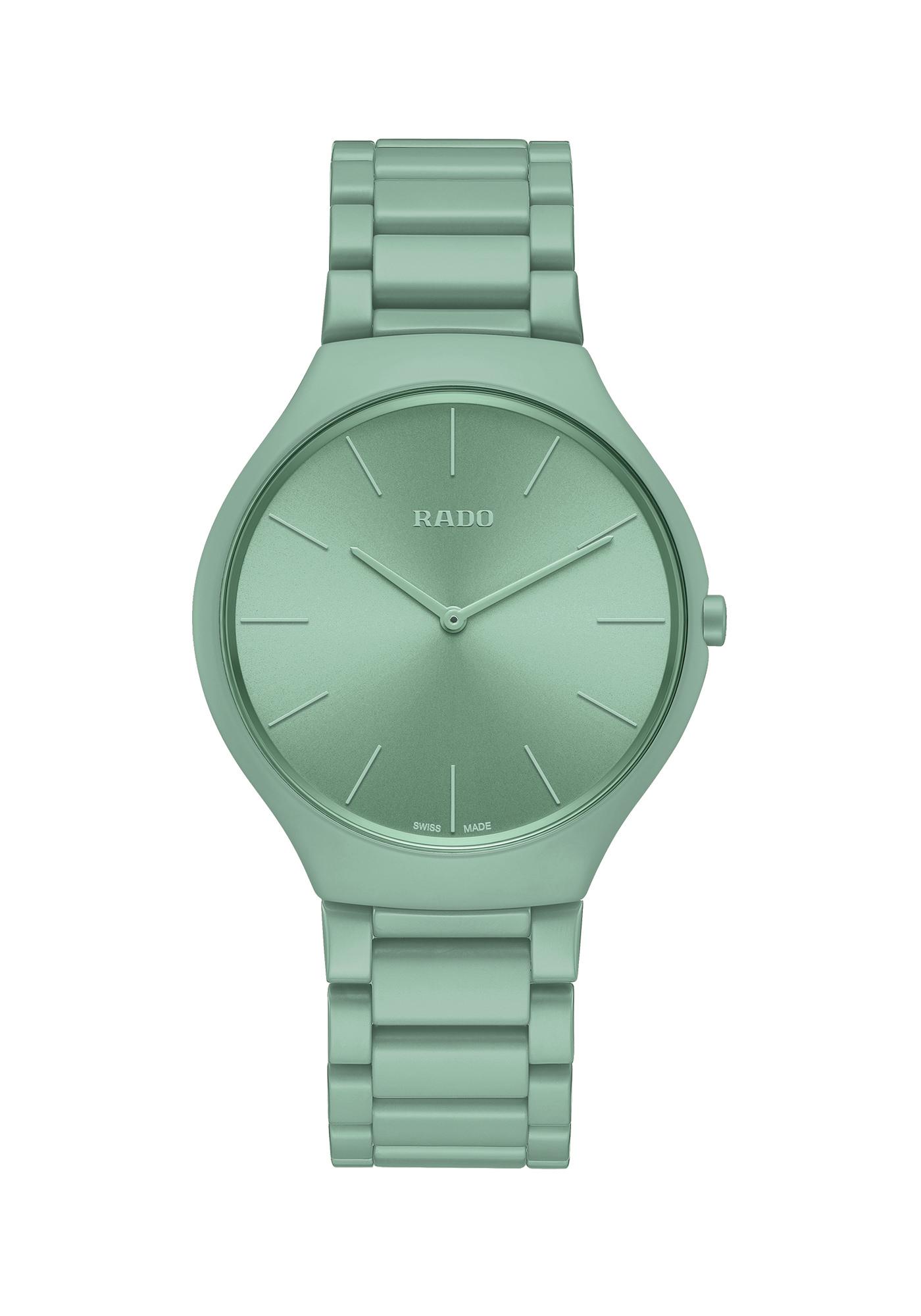 Rado Montres True Thinline Les Couleurs Le Corbusier Slightly Greyed English Green 32041