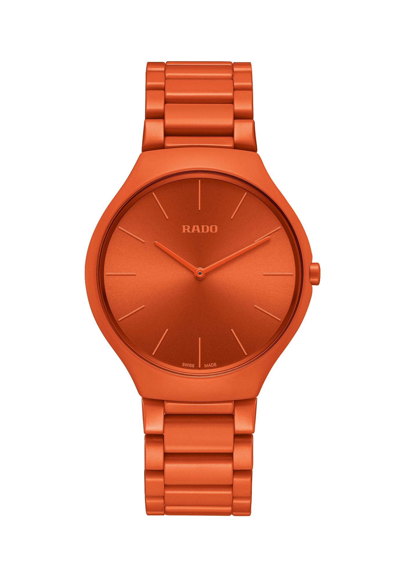 Rado Montres True Thinline Les Couleurs Le Corbusier Spectacular Powerful Orange 4320s