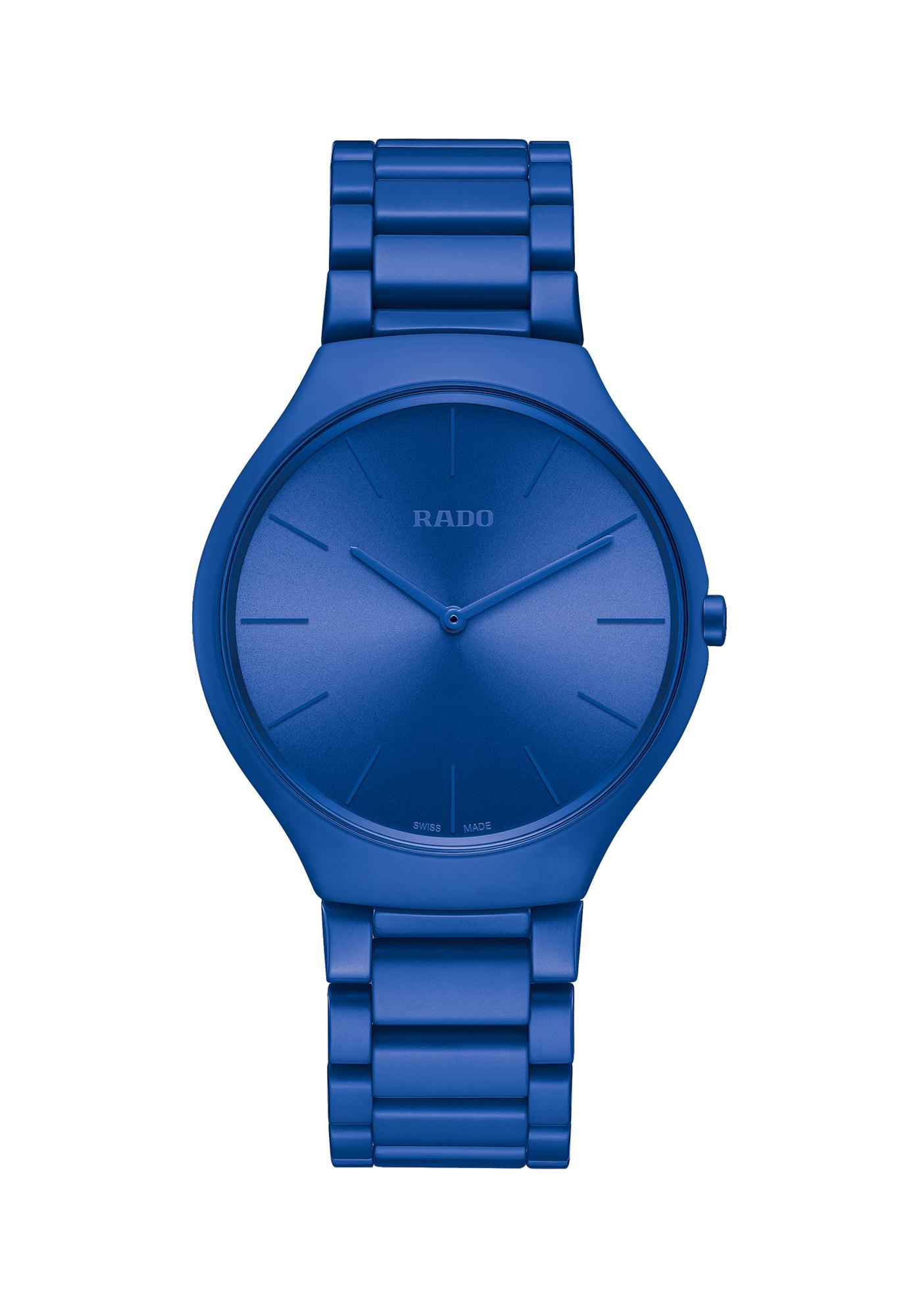 Rado Montres True Thinline Les Couleurs Le Corbusier Spectacular Ultramarine 4320k
