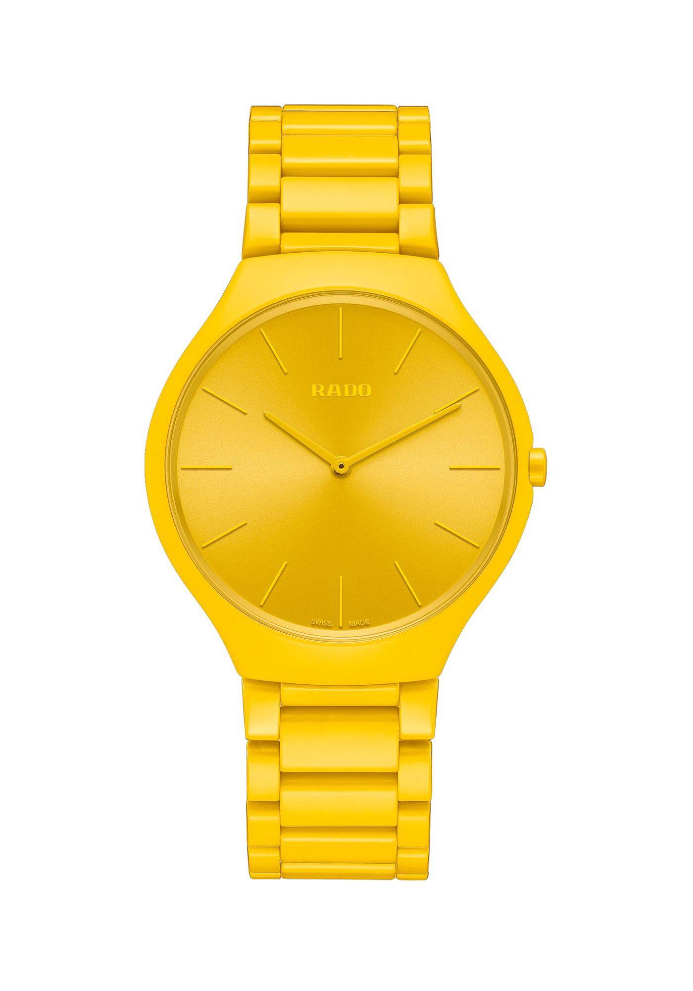 Rado Montres True Thinline Les Couleurs Le Corbusier Sunshine Yellow 4320w