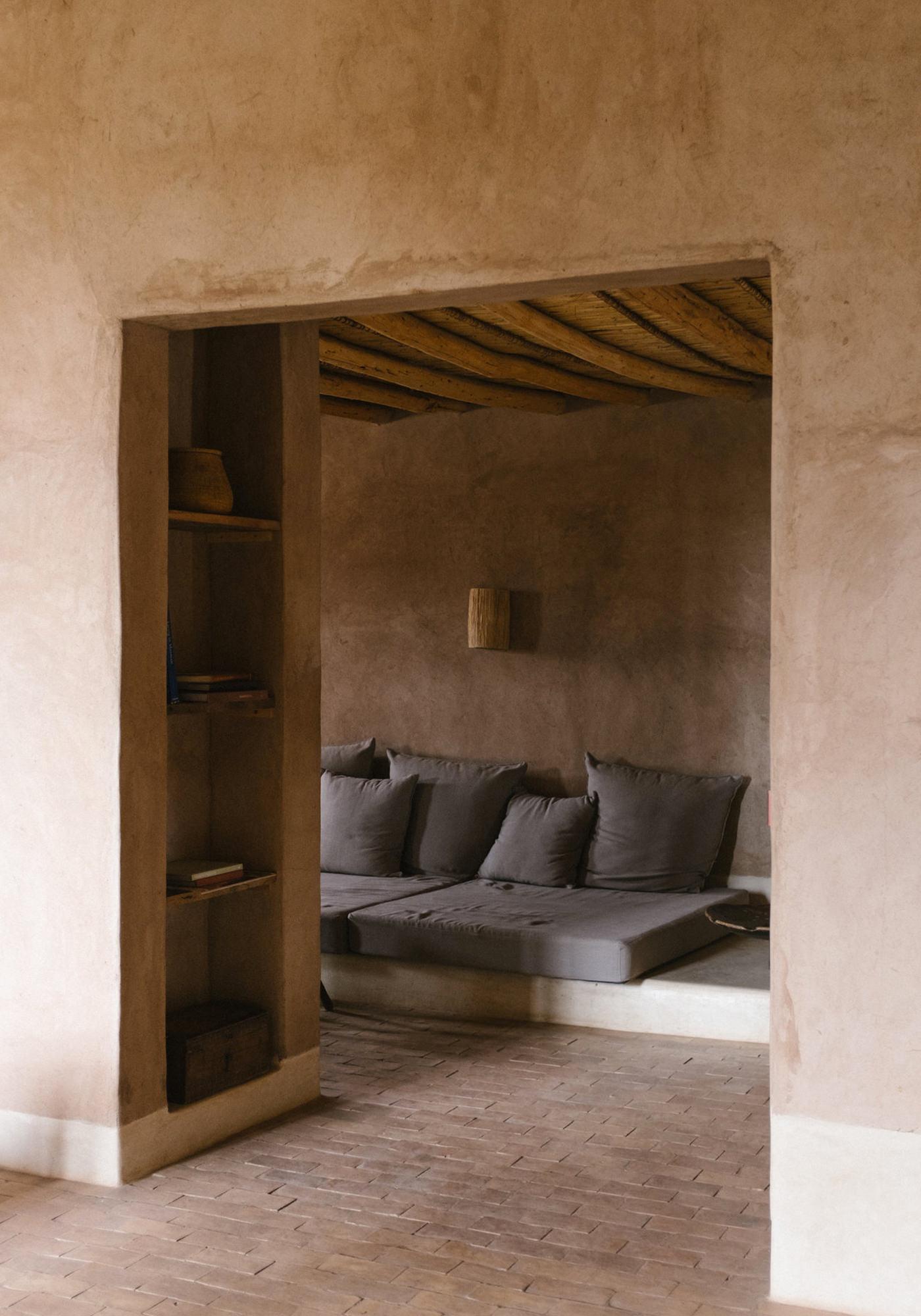 Berber Lodge Hotel Maison Oumnas Maroc Salon