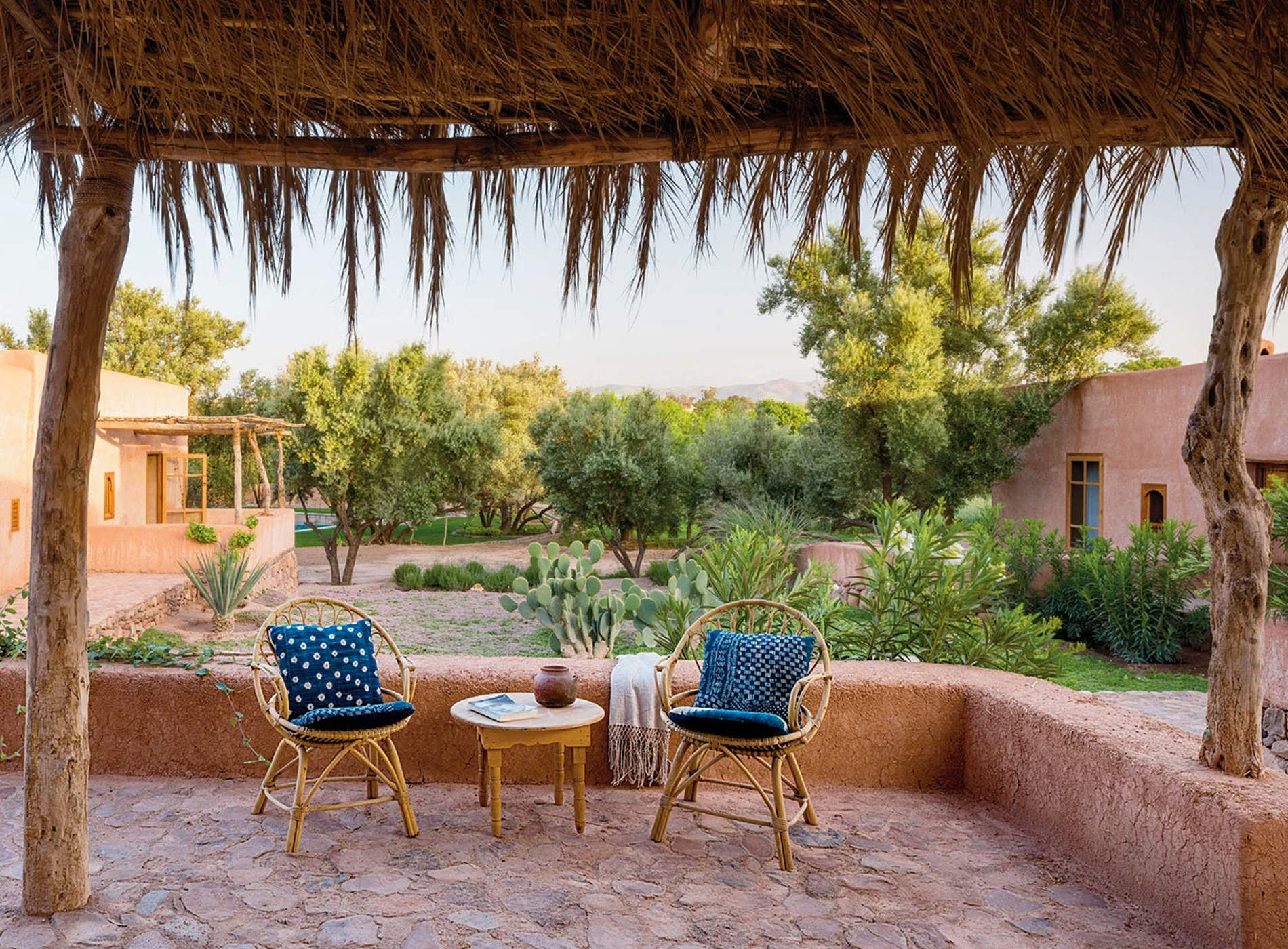 Berber Lodge Hotel Maison Oumnas Maroc Marrakech Vue Terrasse