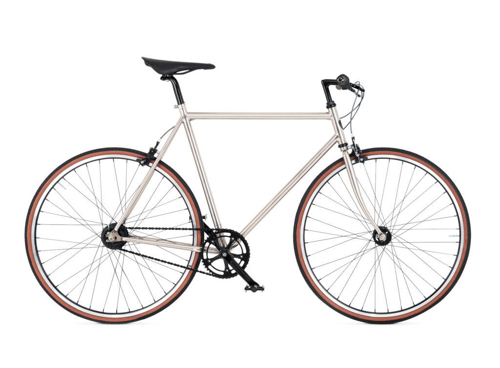 BIKEID Vélo Ville Premium Suédois Diamond 7 Brushed Nickel