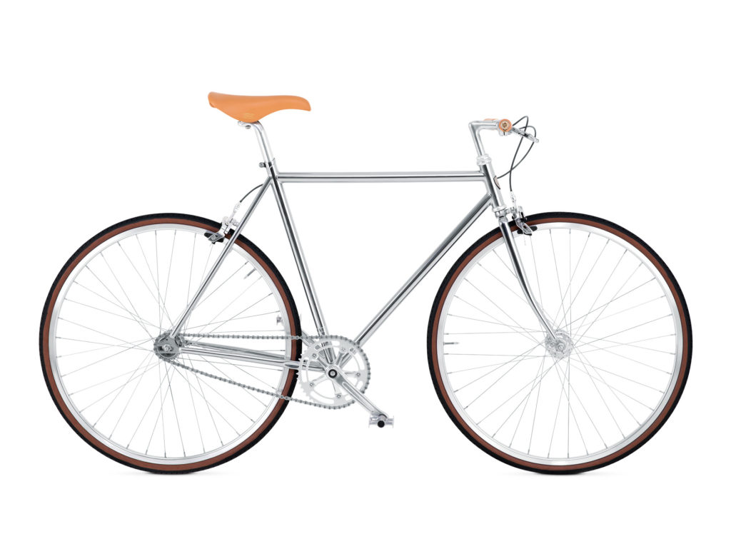 BIKEID Vélo Ville Premium Suédois Diamond Single Chrome