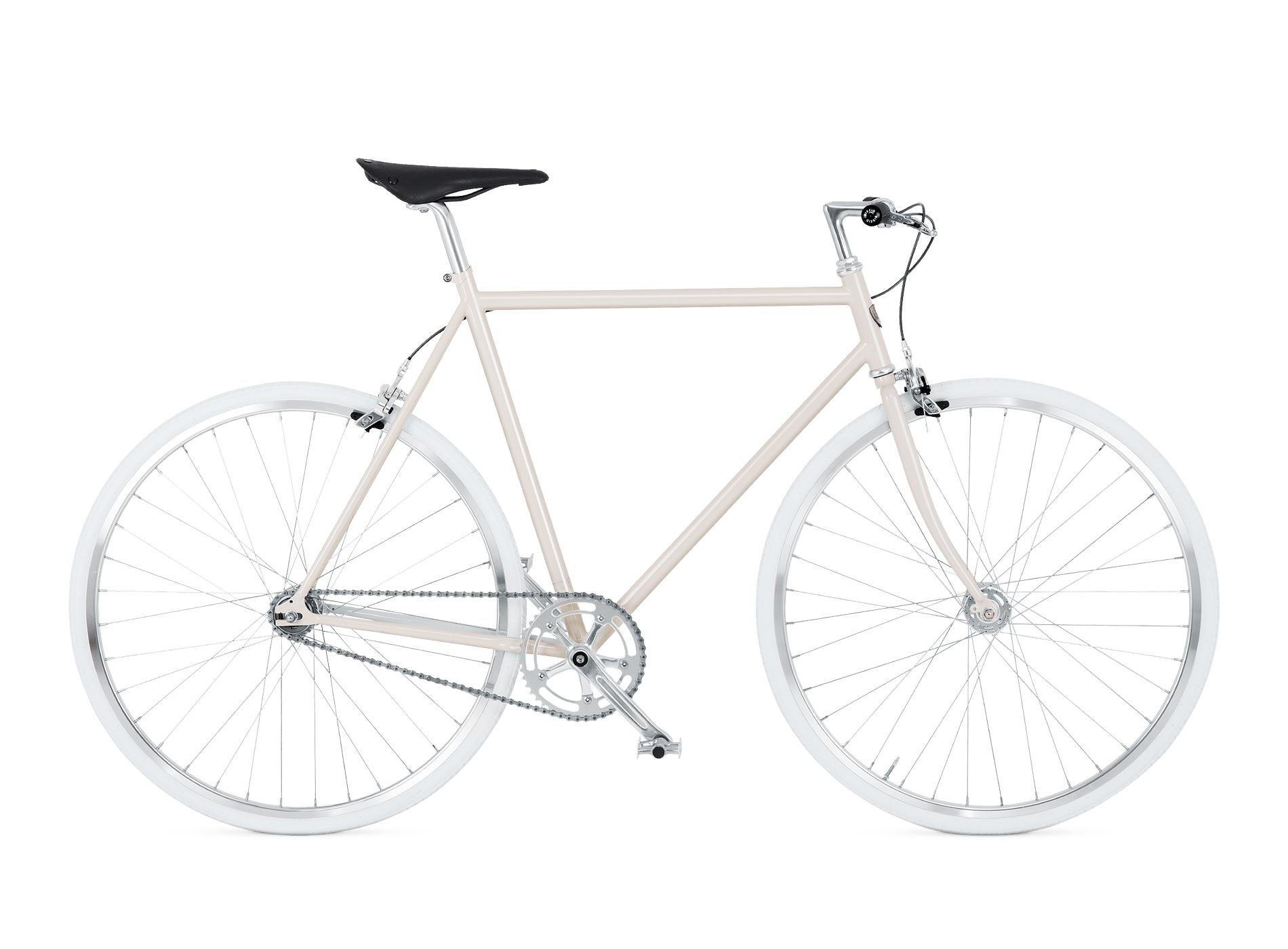 BIKEID Vélo Urbain Ville Suédois Diamond SingleSpeed Pale Beige