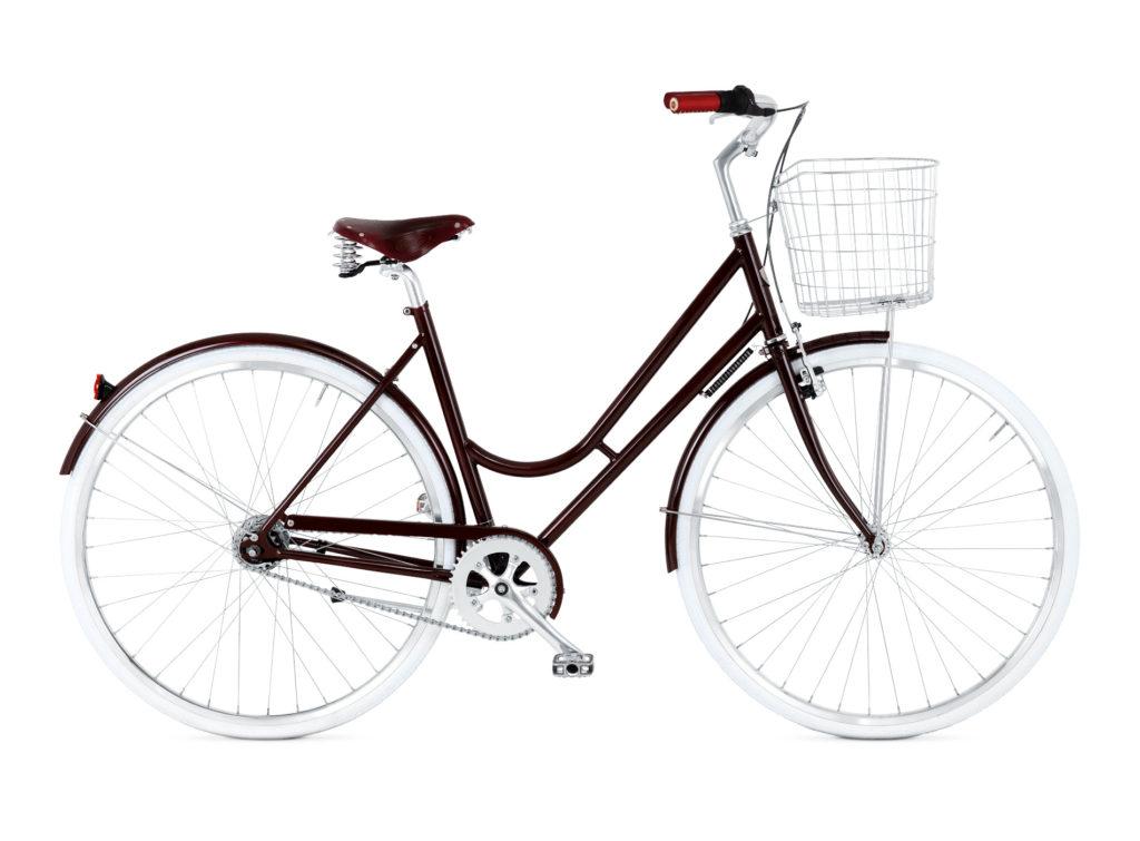 BIKEID Vélo Ville Premium Suédois Step Through 7 Burgundy