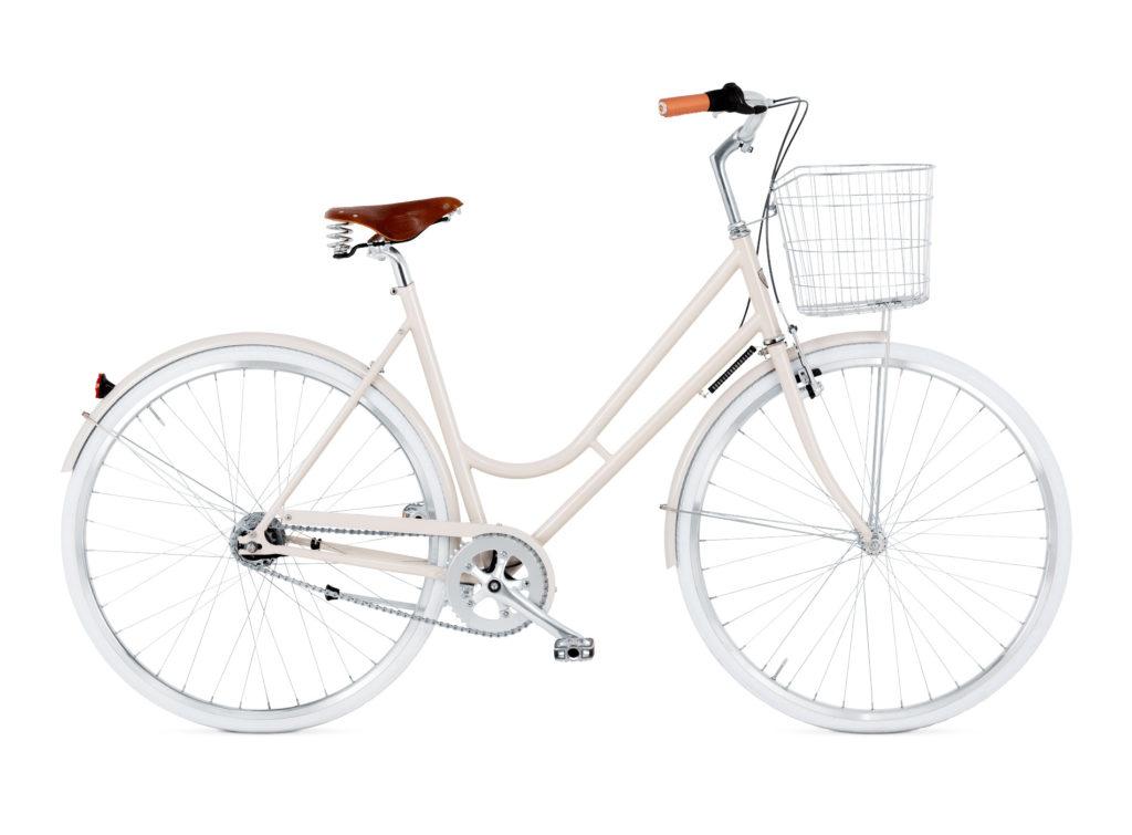 BIKEID Vélo Ville Premium Suédois Step Through 7 Pale Beige