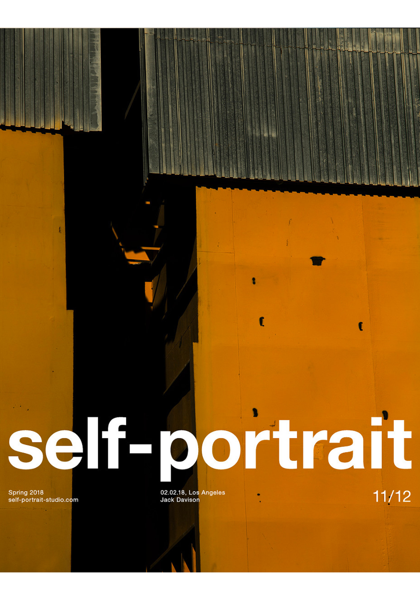 Jack Davison Photographie Magazine Cover Self-Portrait Couleur