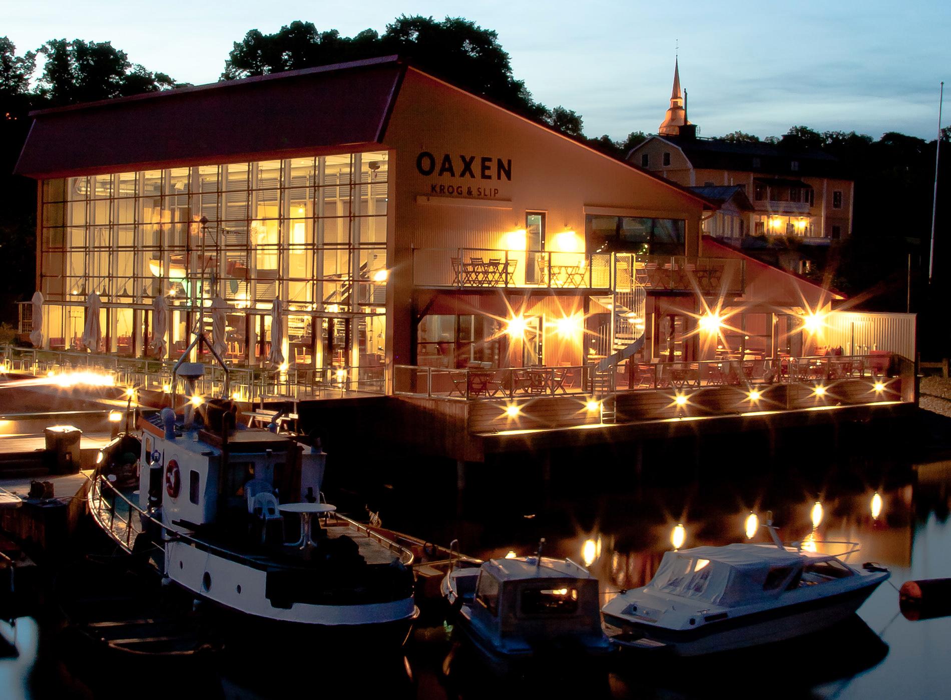 Oaxen Krog Restaurants Etoilés Michelin Stockholm Extérieur Nuit