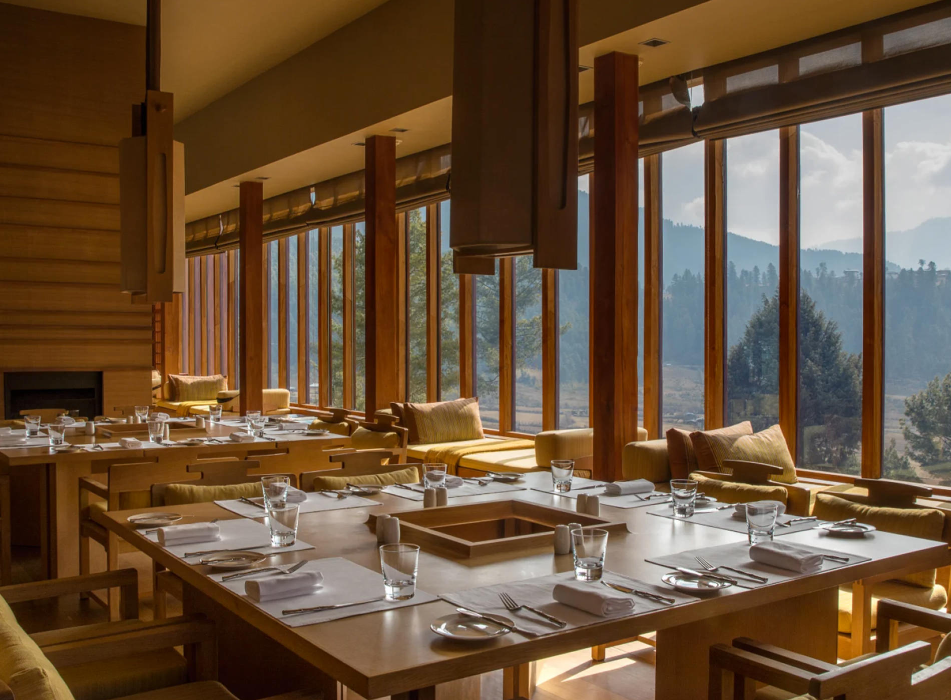 Amankora Lodges Bhoutan Gangtey Lodge Salle Déjeuner