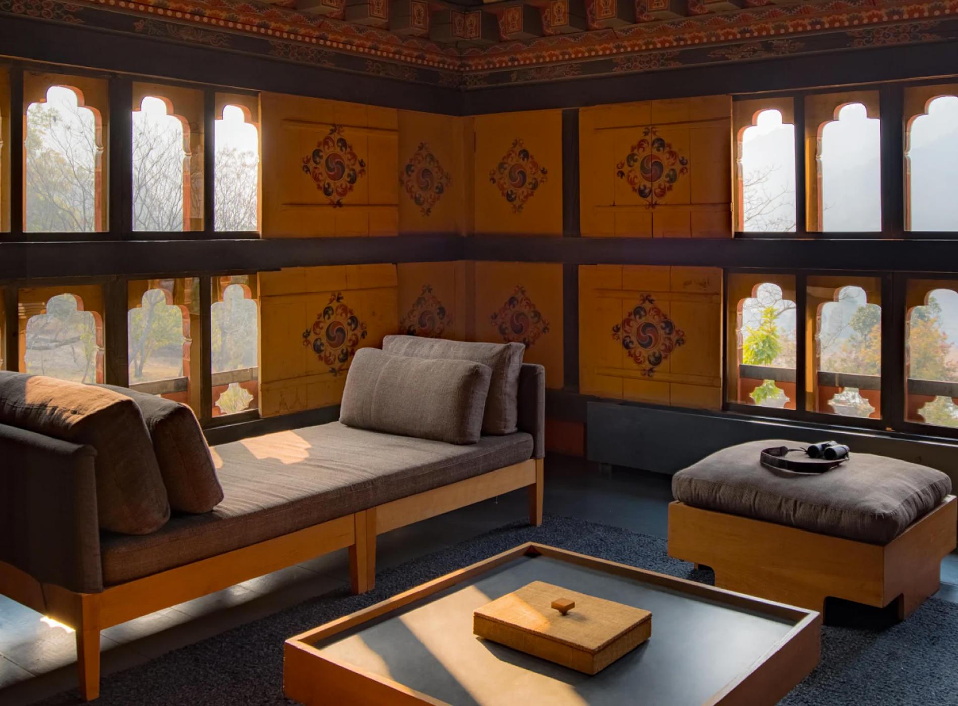 Amankora Lodges Bhoutan Punakha Lodge Salle Repos
