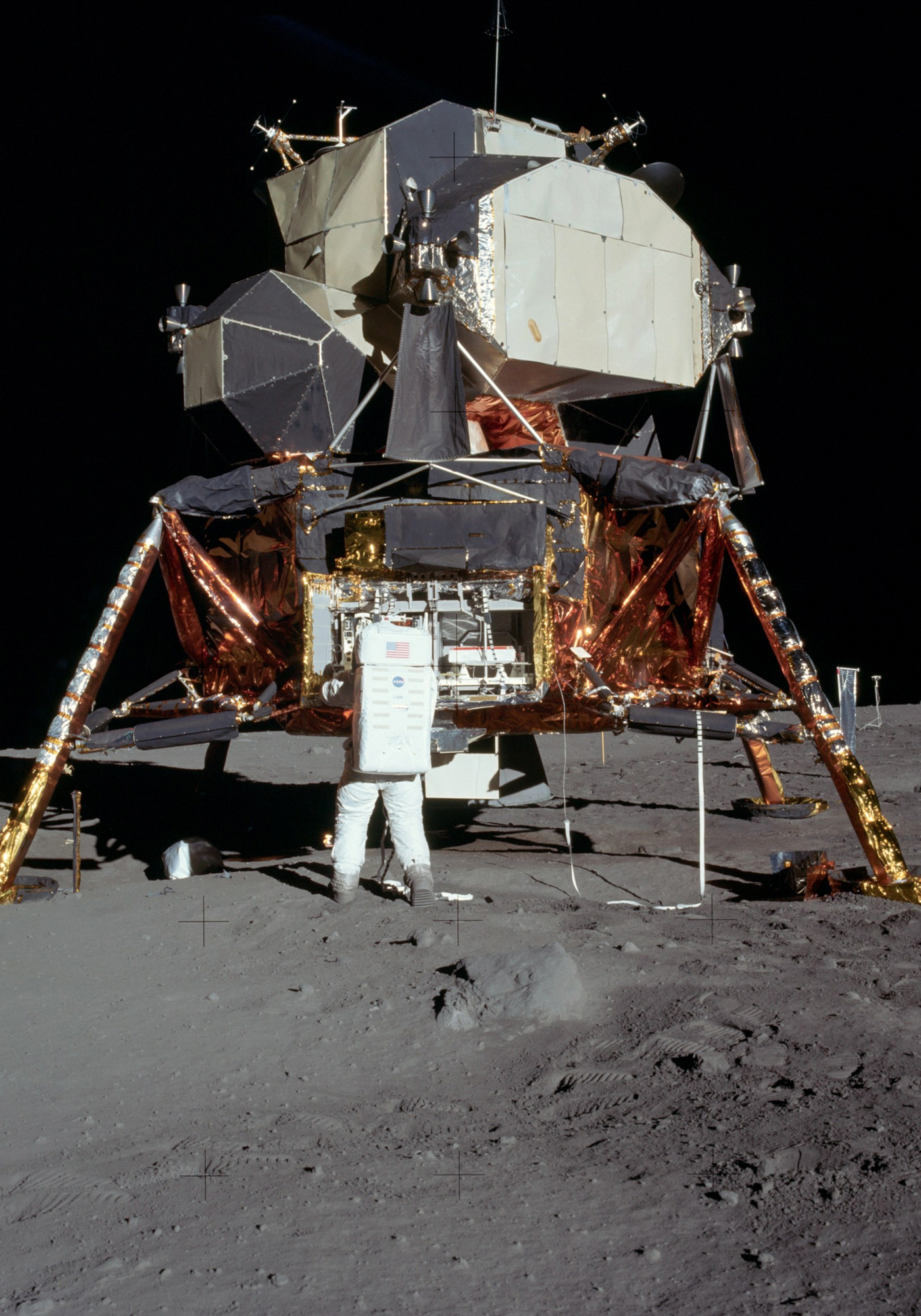 Apollo 11 Atterissage Lune Edwin Aldrin Module Eagle