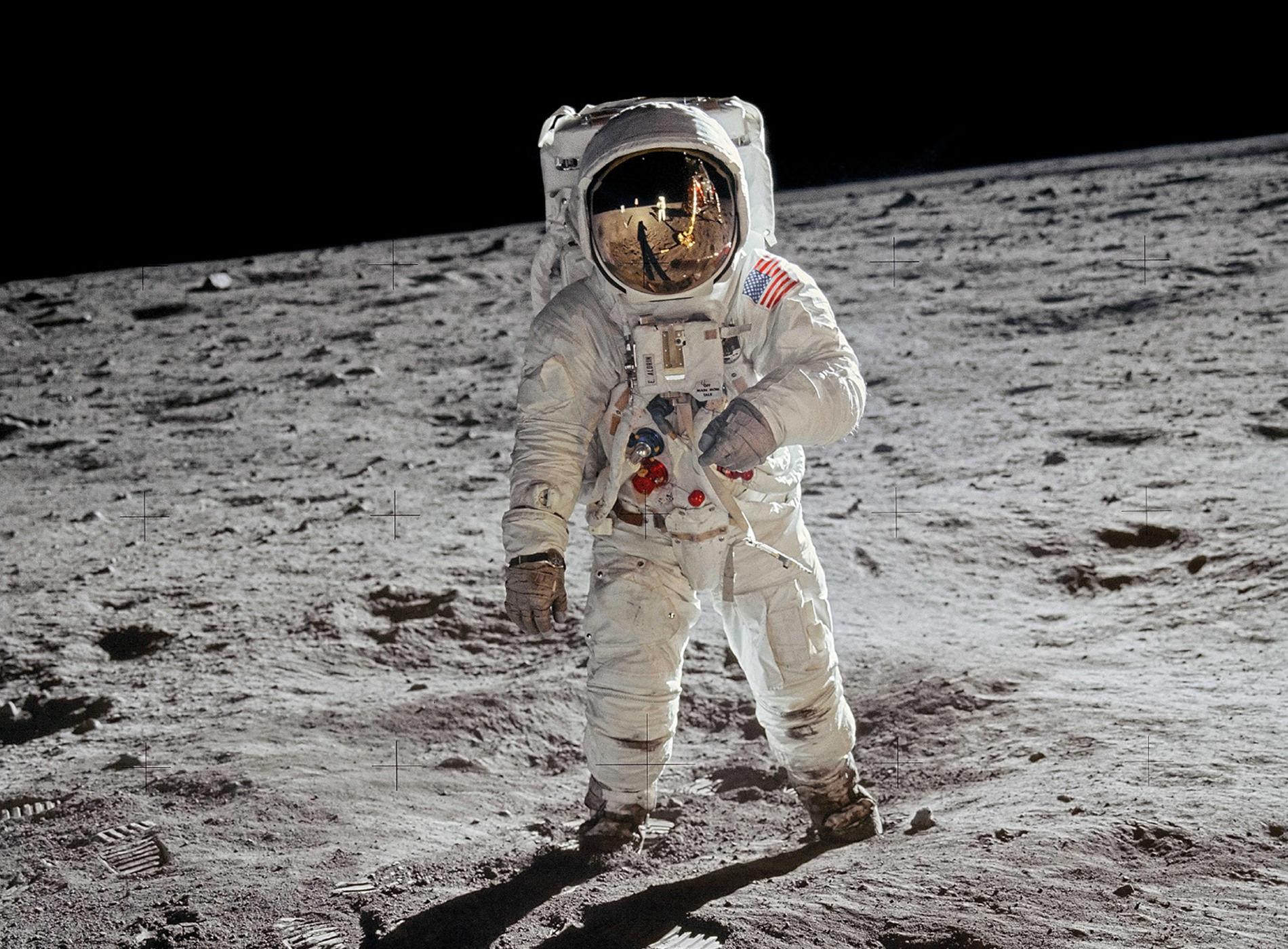 Apollo 11 Atterrissage Lune Edwin Aldrin Portrait