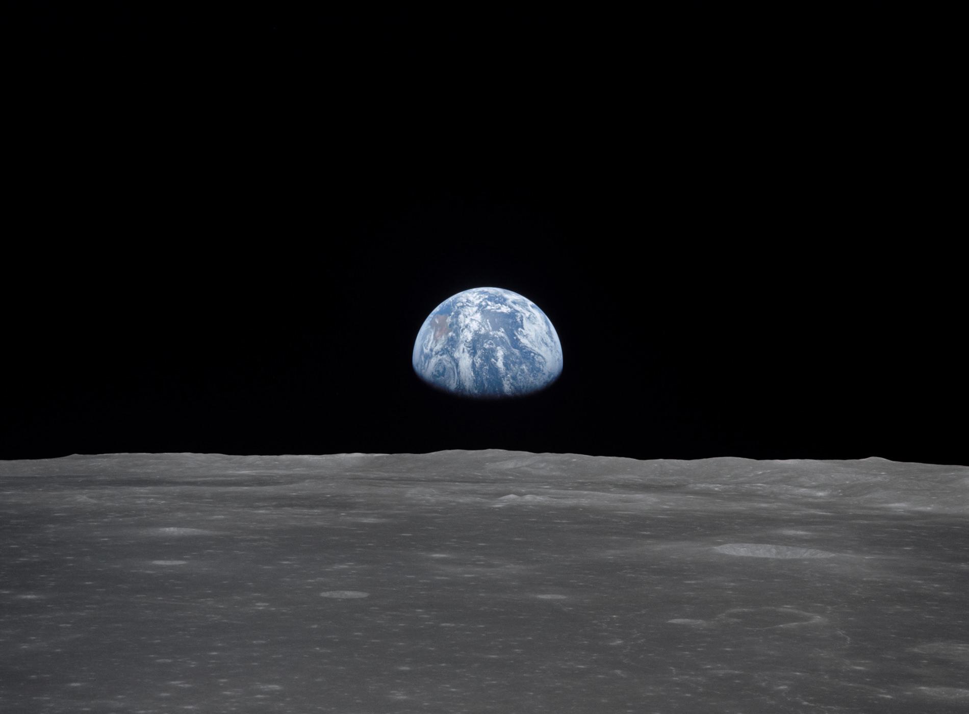 Apollo 11 Atterrissage Lune Vue Terre