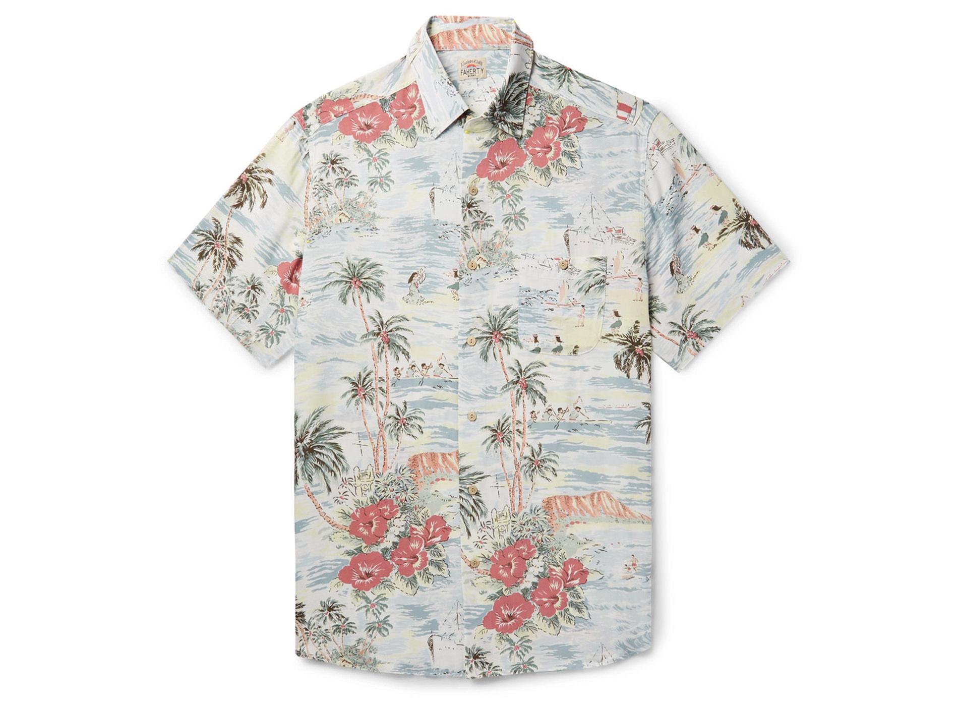 Style Mr Porter Chemise Fleurs Faherty Tropical