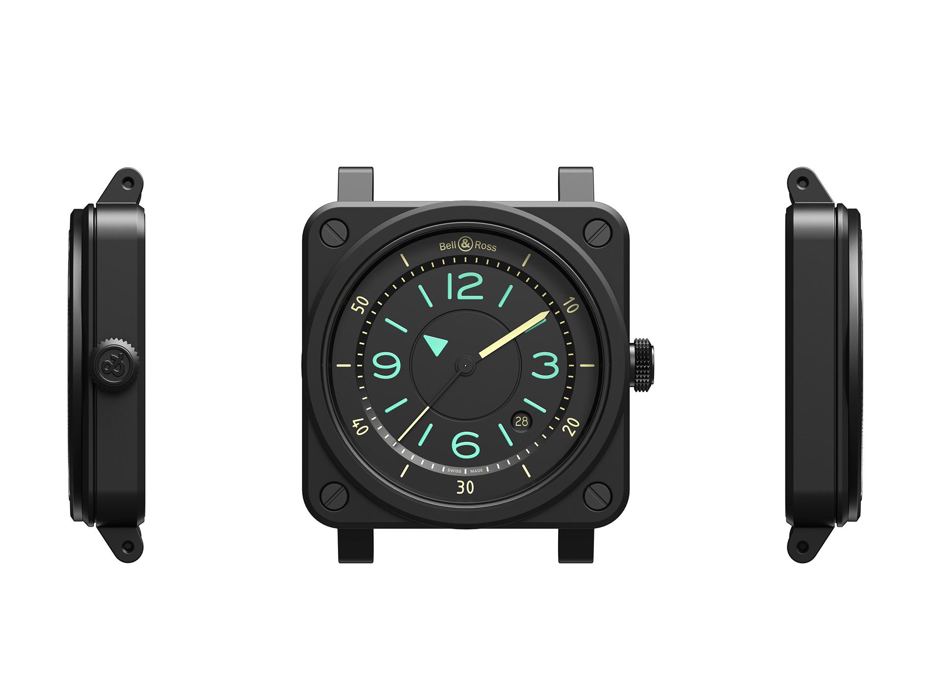 Montre Bell & Ross 03 92 Bi Compass Profil Epaisseur