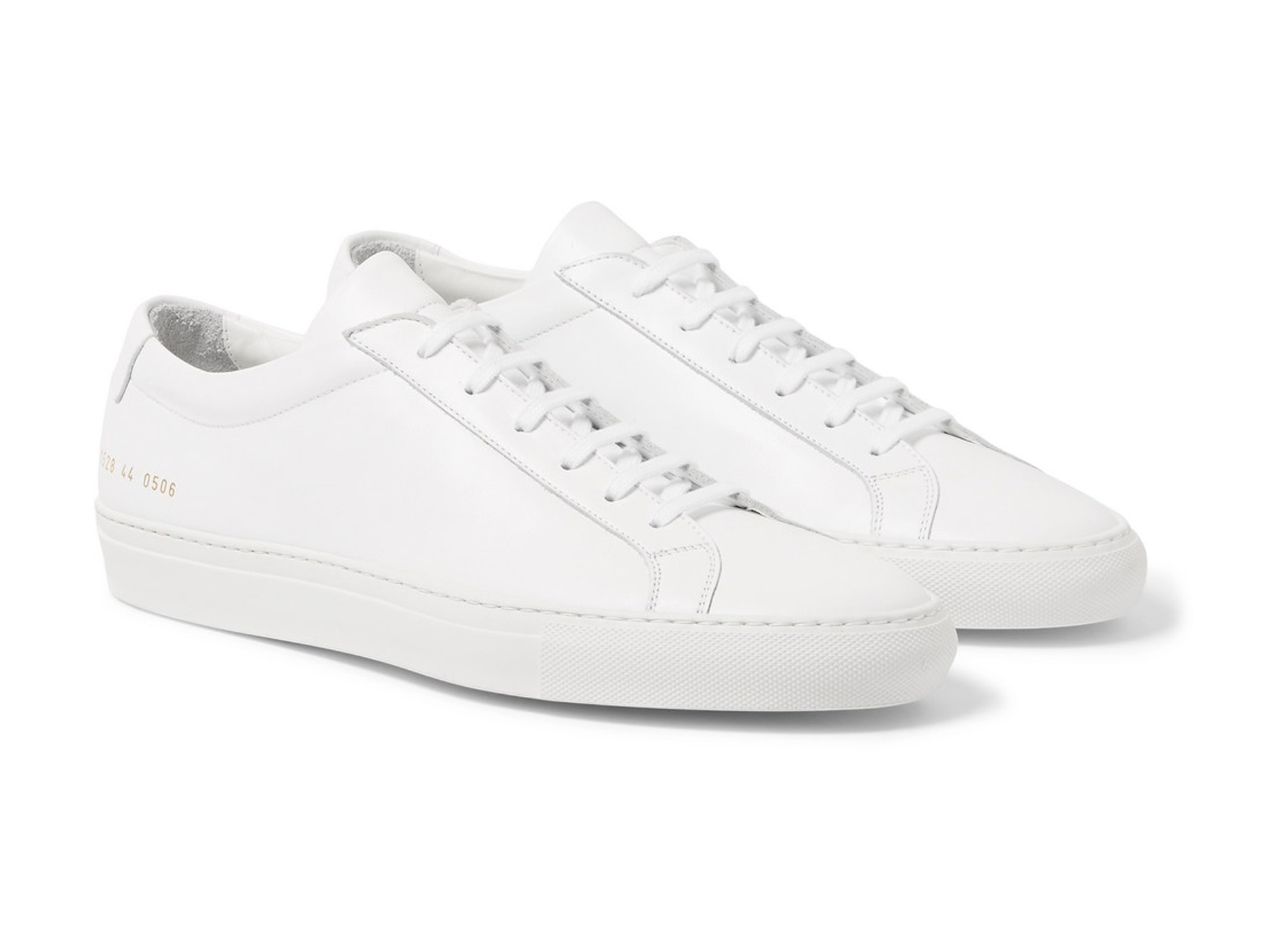Style Mr Porter Sneakers Common Projects Cuir Blanc