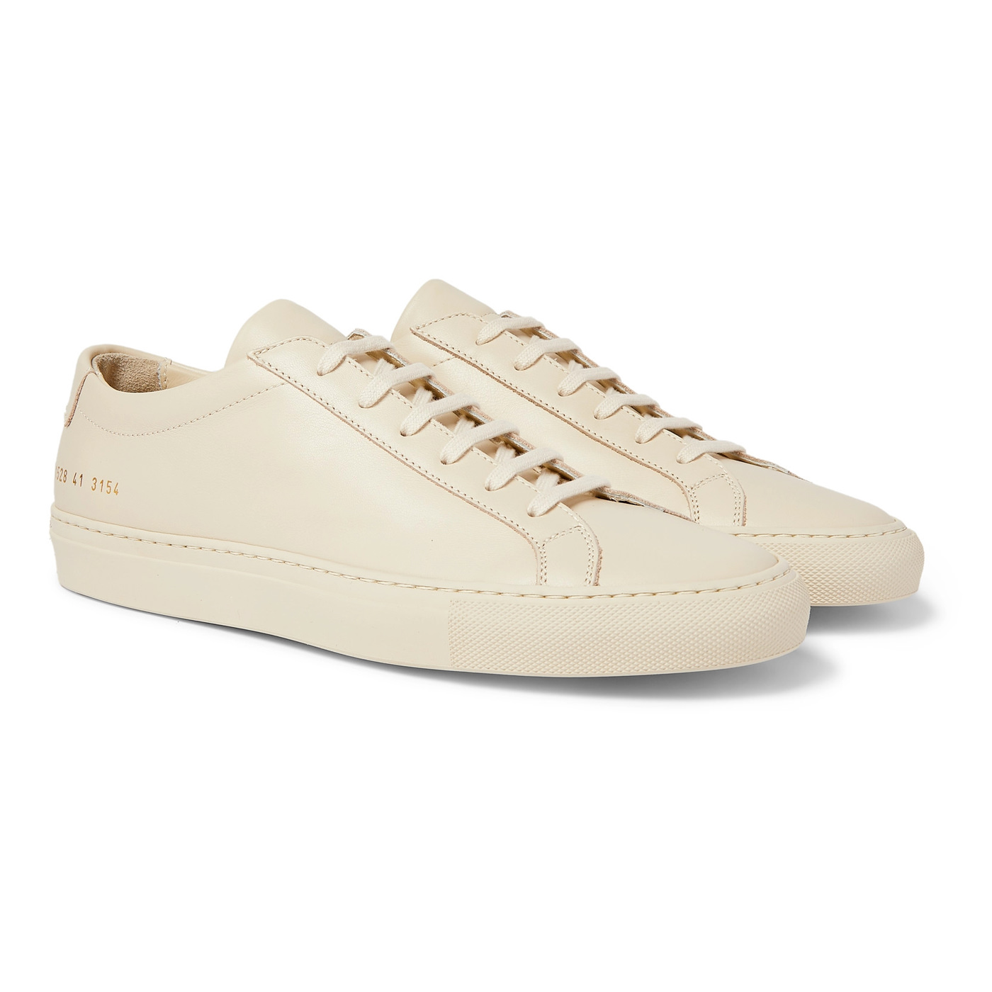 Style Mr Porter Sneakers Common Projects Original Achilles Cuir Beige