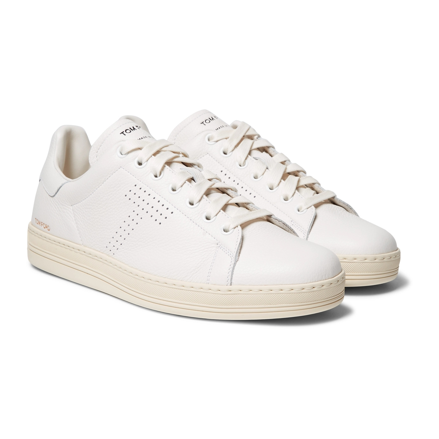 Style Mr Porter Sneakers Cuir Blanc Tom Ford