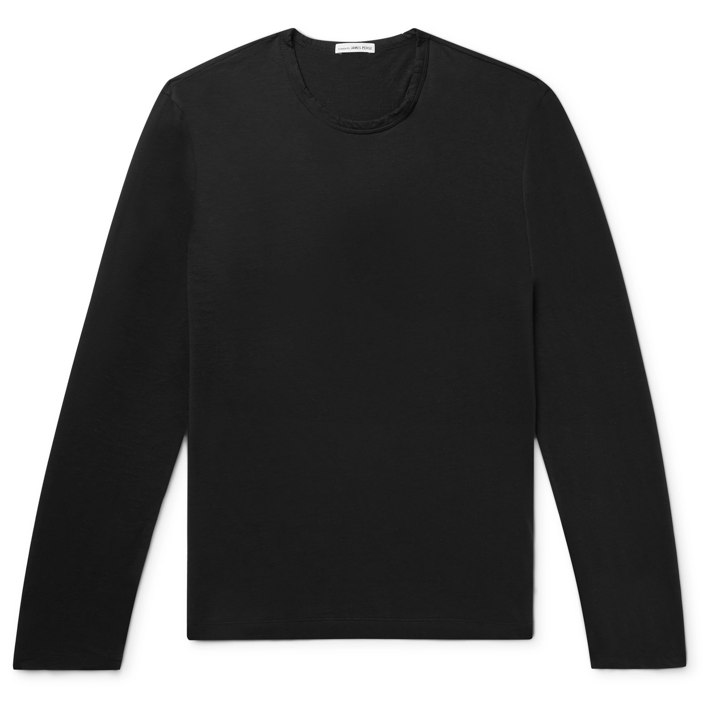 Style Mr Porter T Shirt Manches Longues Noir James Perse