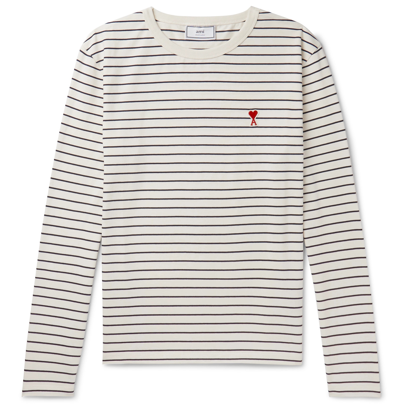 Style Mr Porter TShirt AMI Manches Longues Marinière