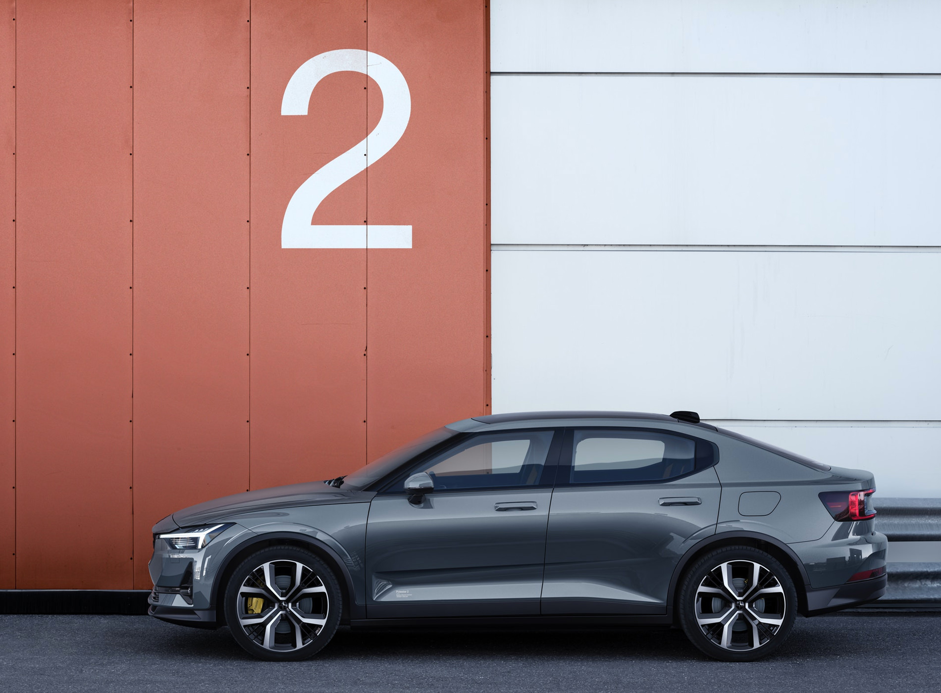 The Polestar 2 Electric Car Berlin Package Gray
