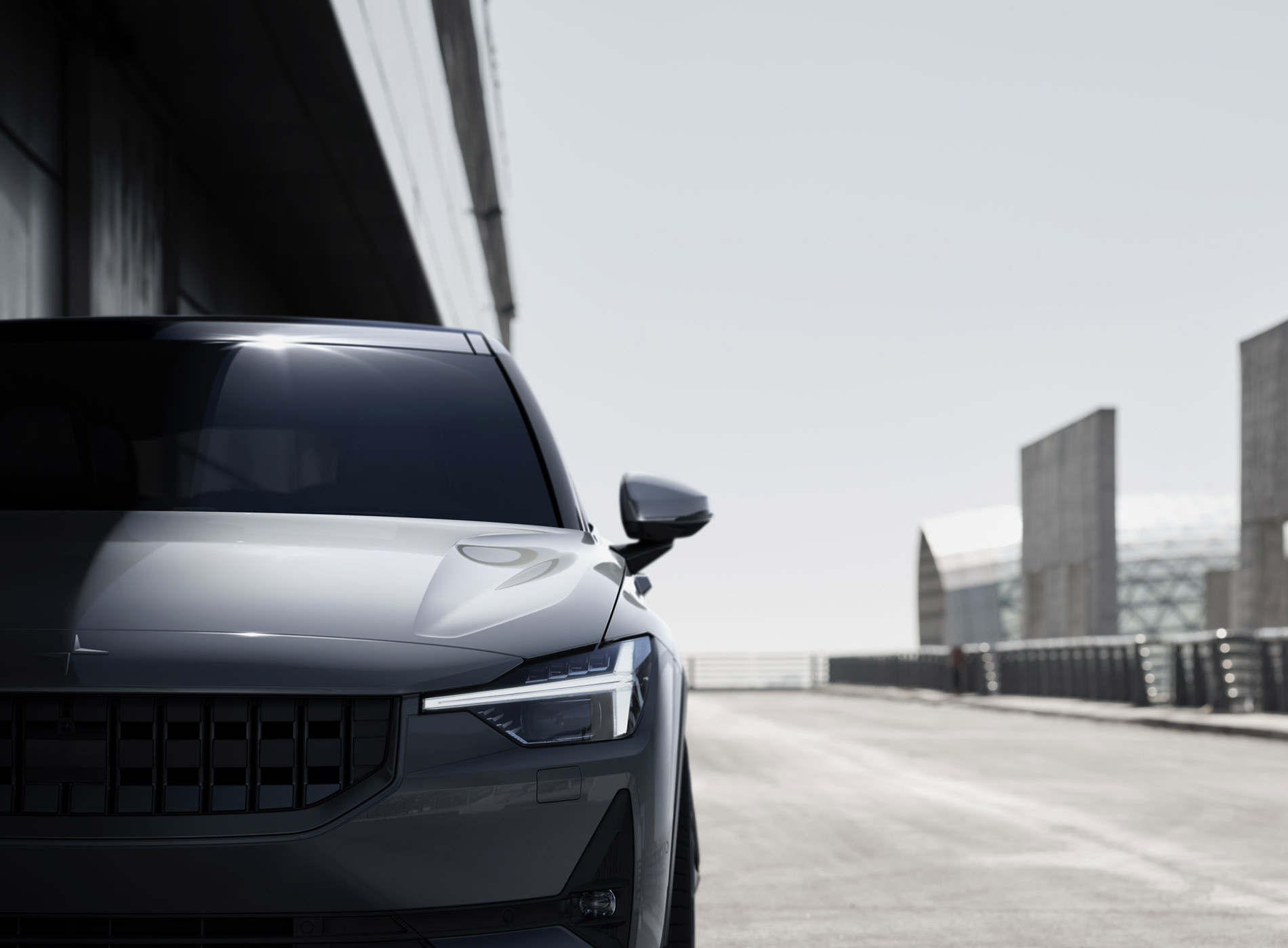 The Polestar 2 Electric Car Shangai Package White Détails