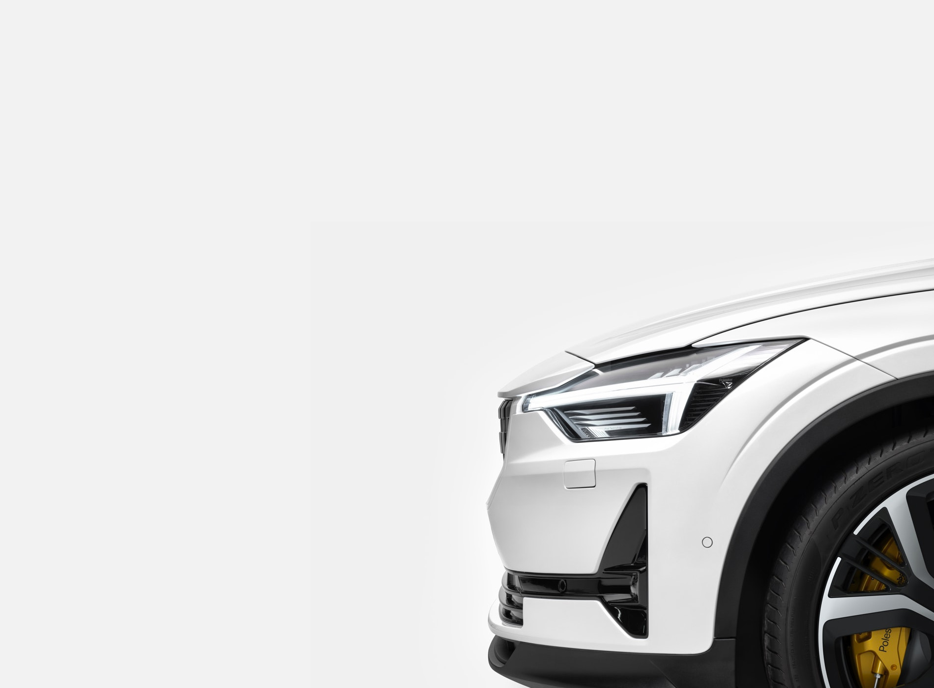 The Polestar 2 Electric Car Shangai Package White Details