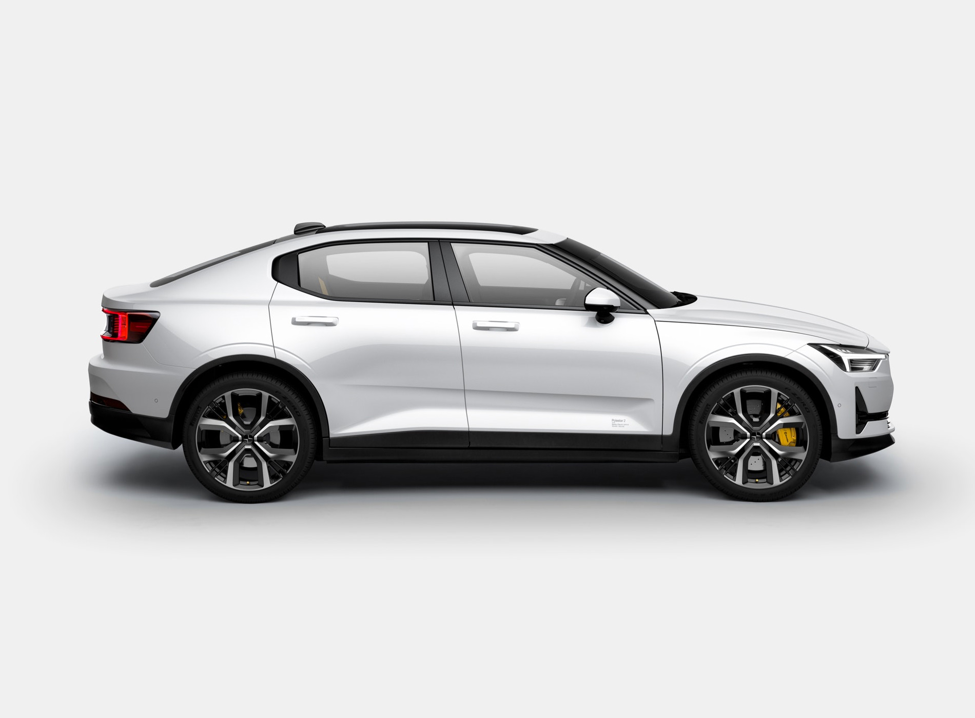The Polestar 2 Electric Car Shangai Package White
