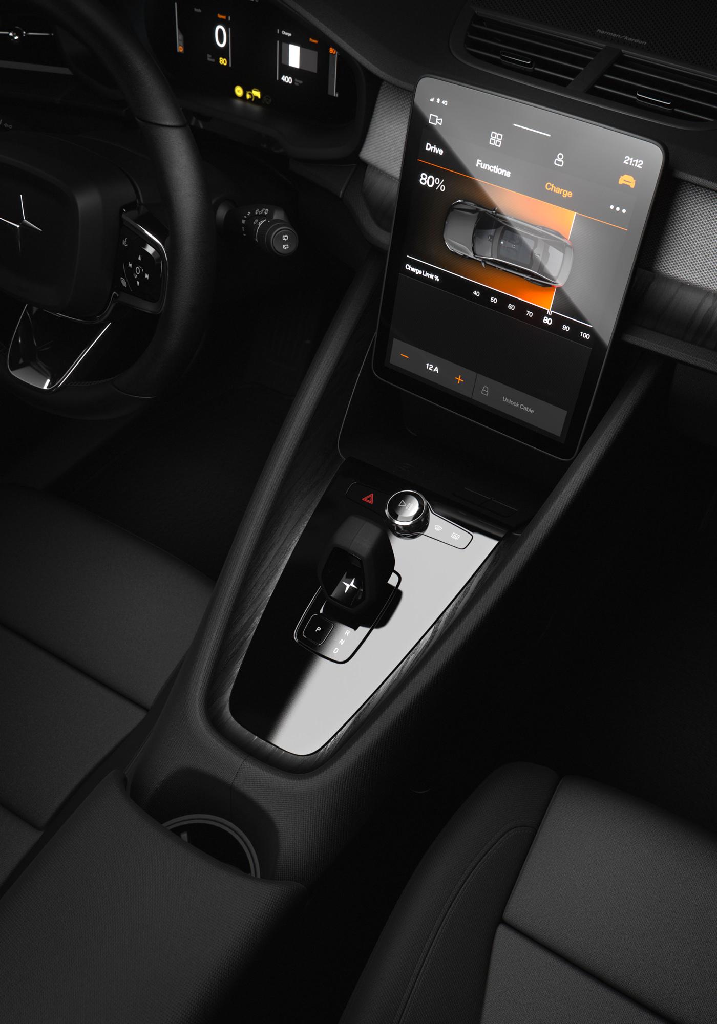 The Polestar 2 Electric Car Intérieur
