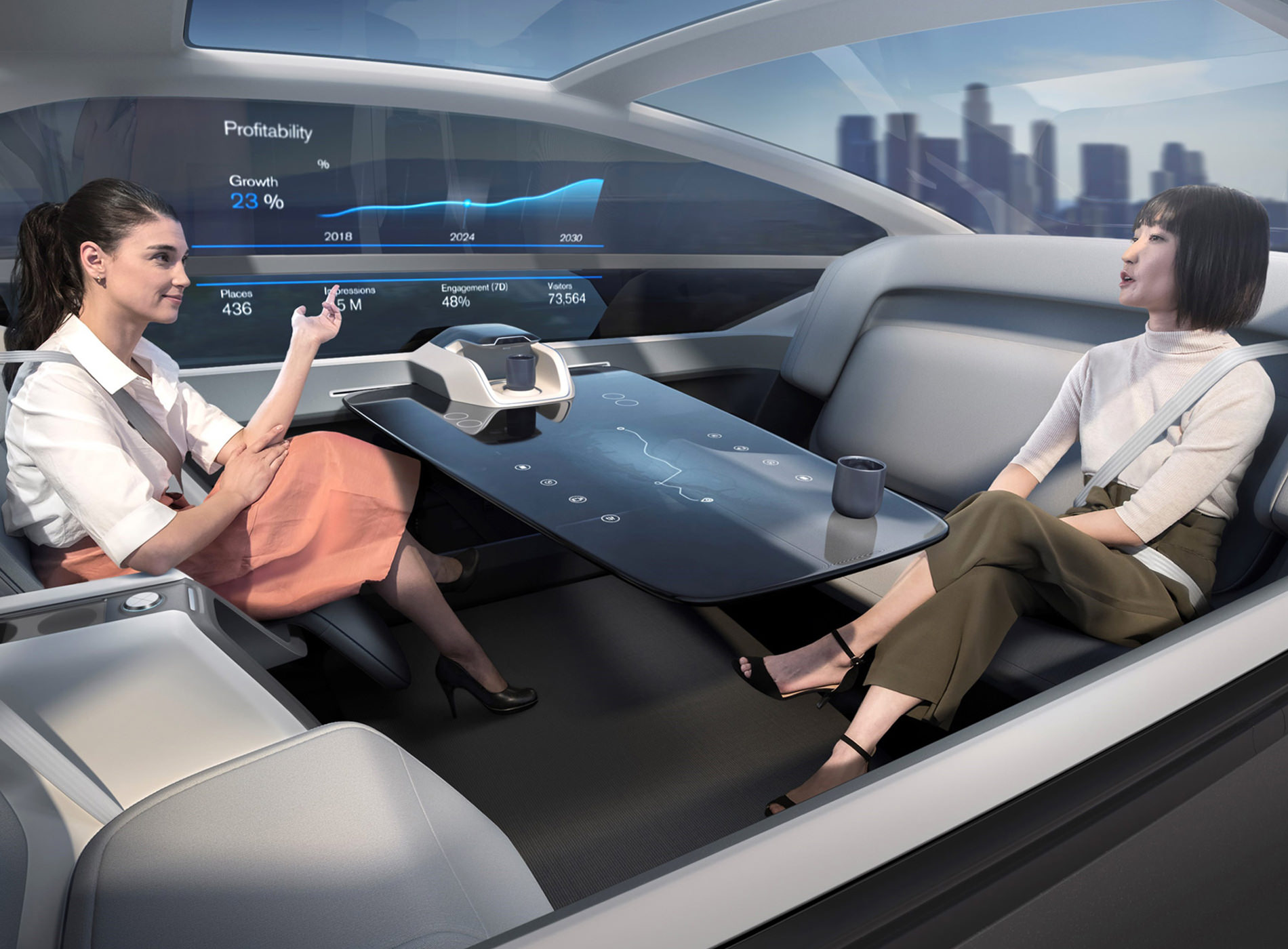 Concept Volvo 360C Position Travail