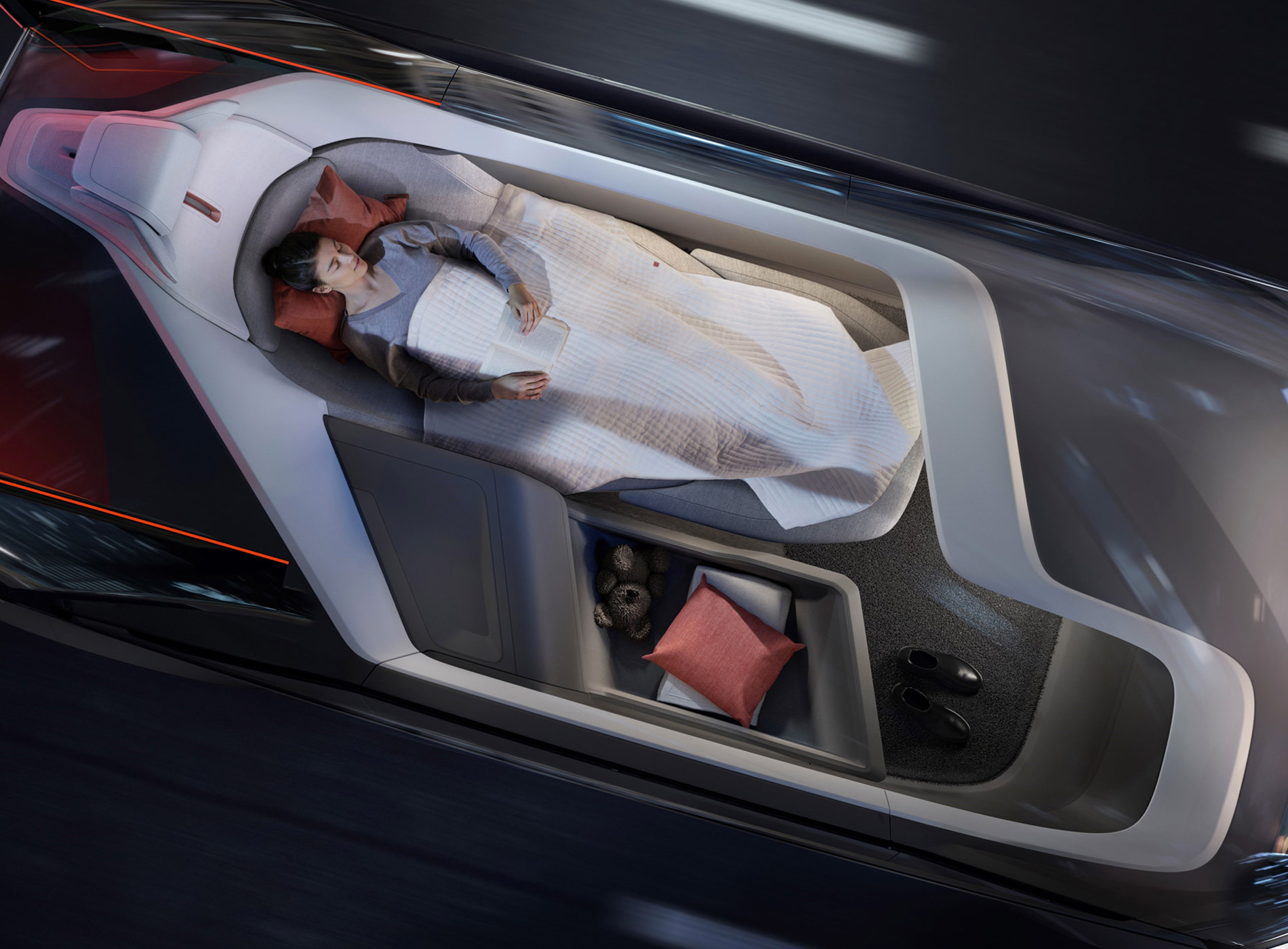 Concept Volvo 360C Position Couchée Lit
