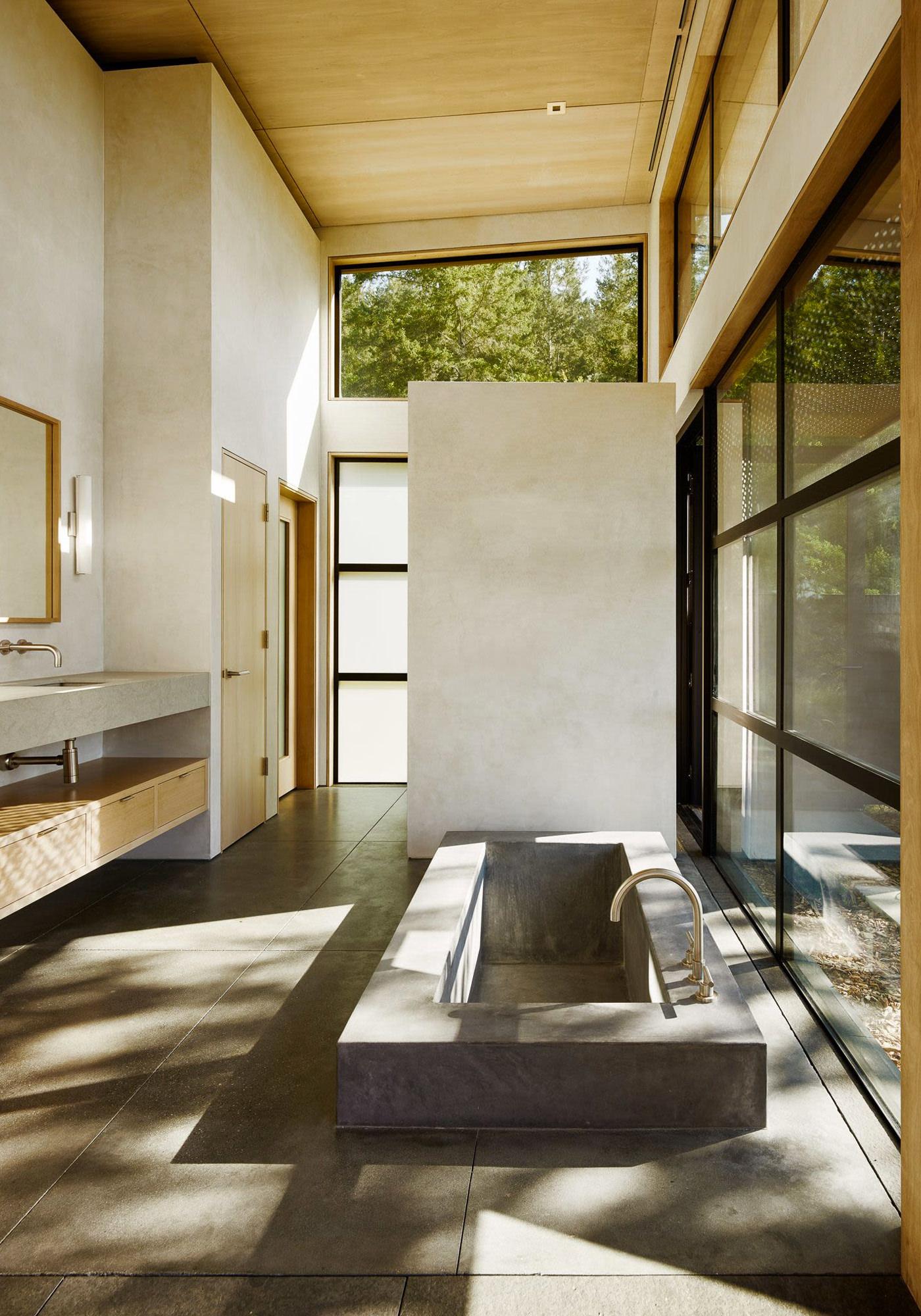 Healdsburg House Sonoma Californie Architecture Salle de Bains