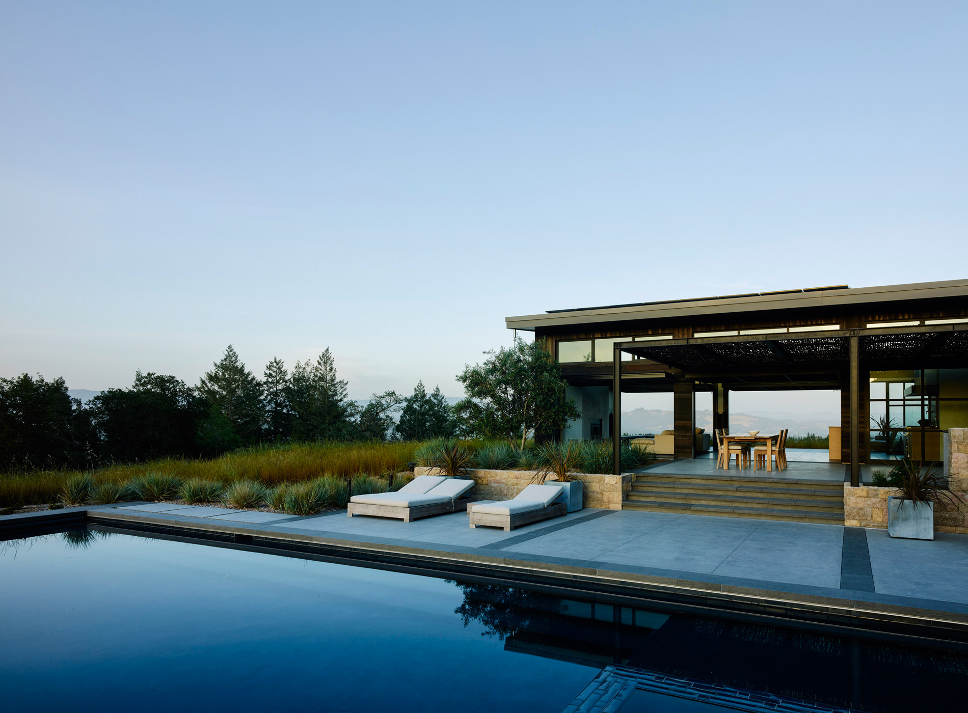 Healdsburg House Sonoma Californie Architecture Terrasse Piscine