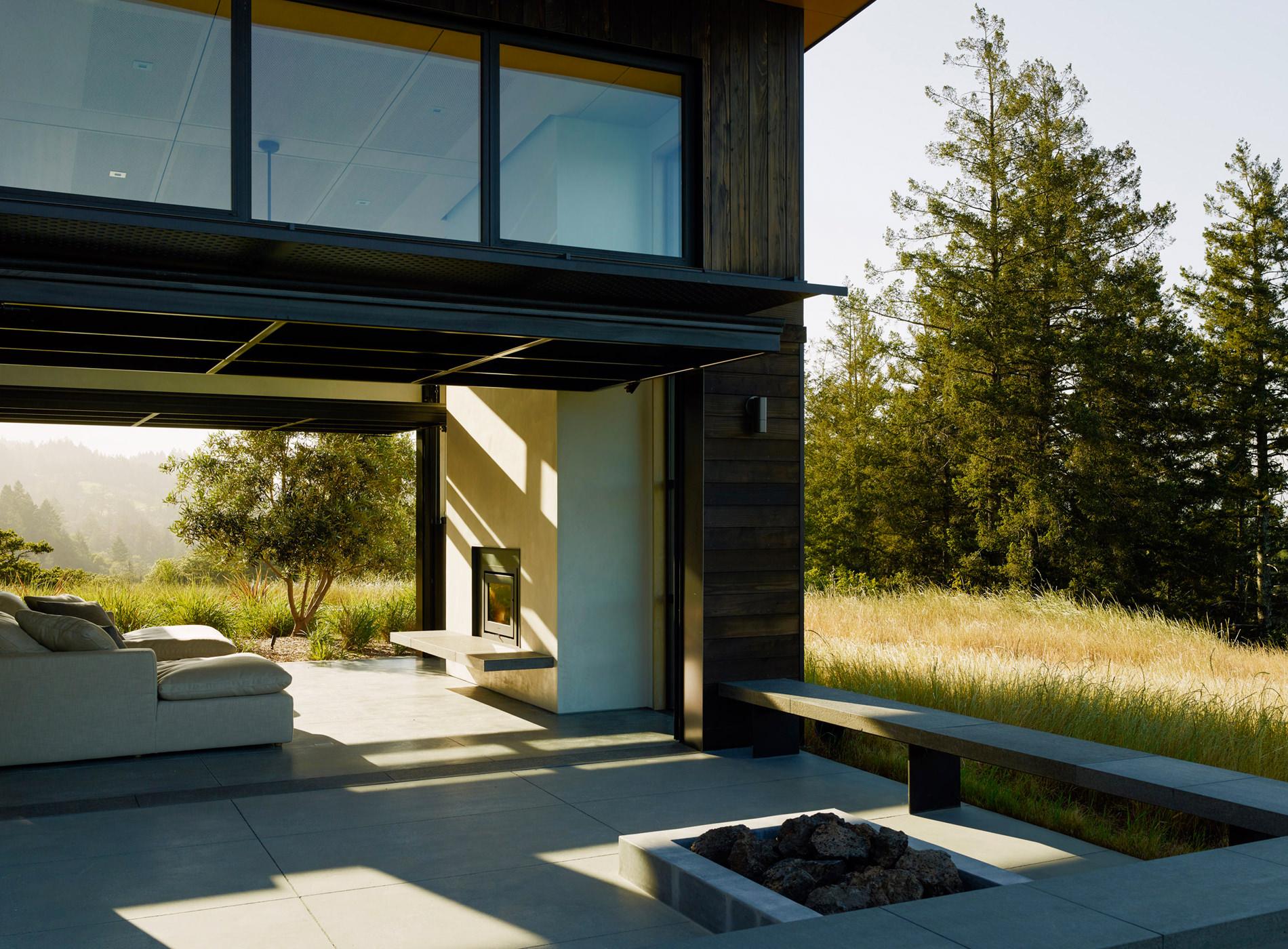 Healdsburg House Sonoma Californie Architecture Terrasse