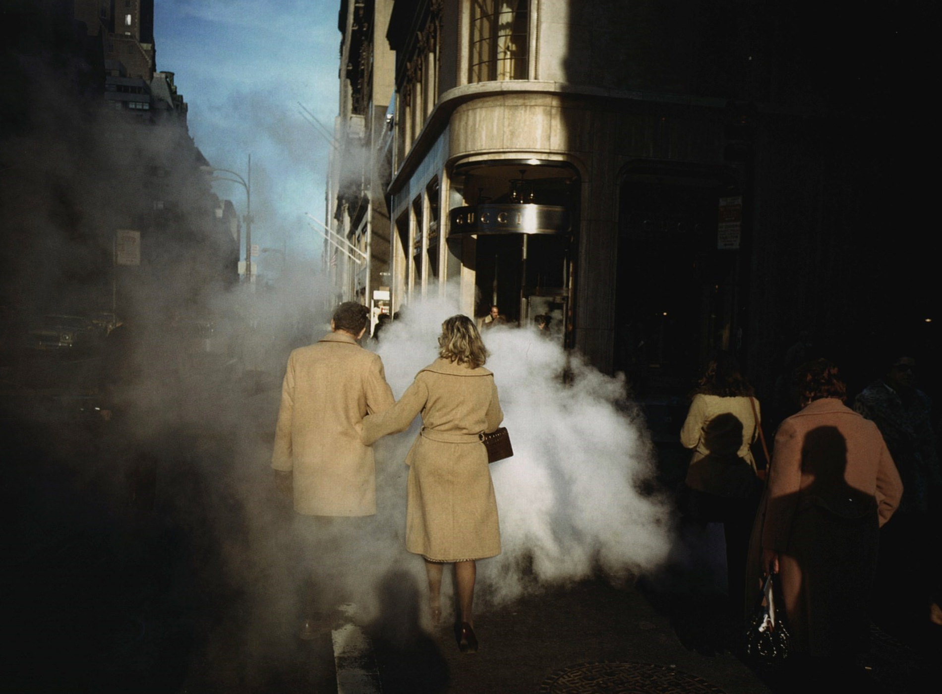 Joel Meyerowitz, Camel Coats, New York City, 1975