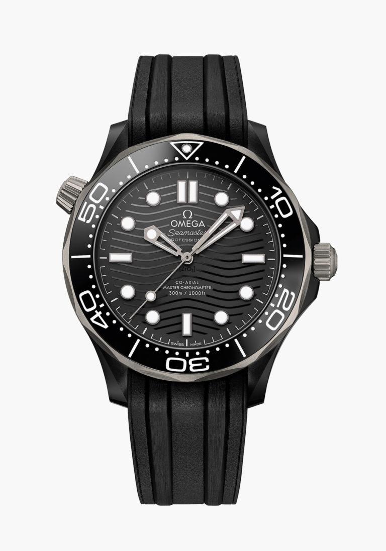 Montre Omega Seamaster Diver 300M Céramique Titanium Bracelet Caoutchouc Noir