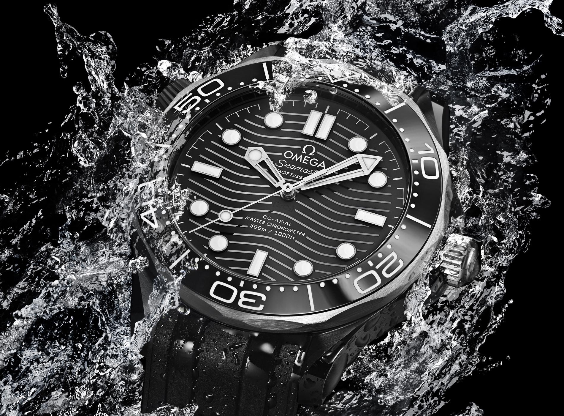 Montre Omega Seamaster Diver 300M Céramique Titanium Mood Eau