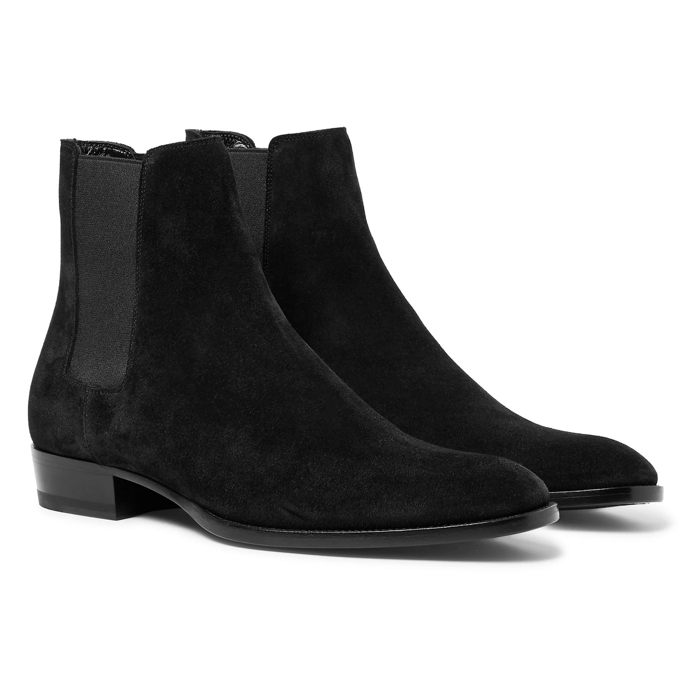 Style Mr Porter Boots Bottines Saint Laurent Daim Noir