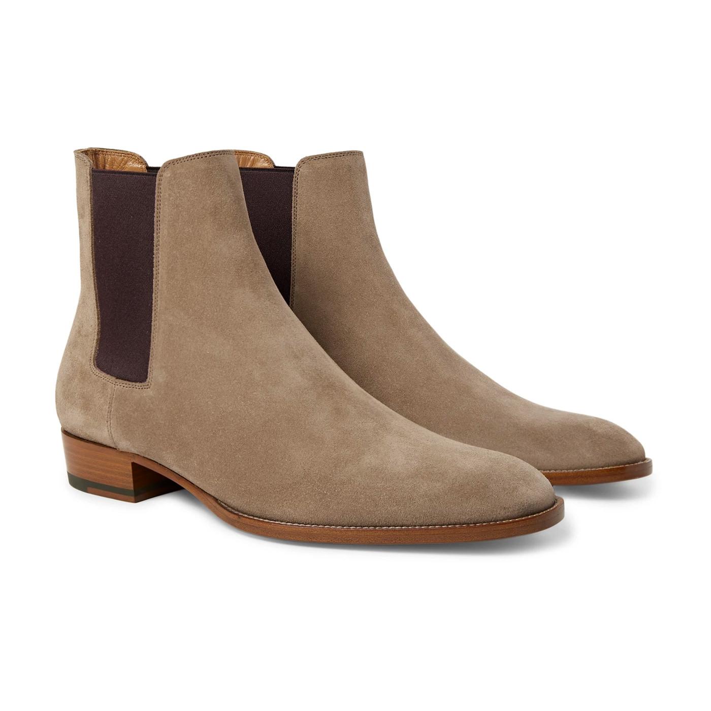 Style Mr Porter Boots Saint Laurent Daim