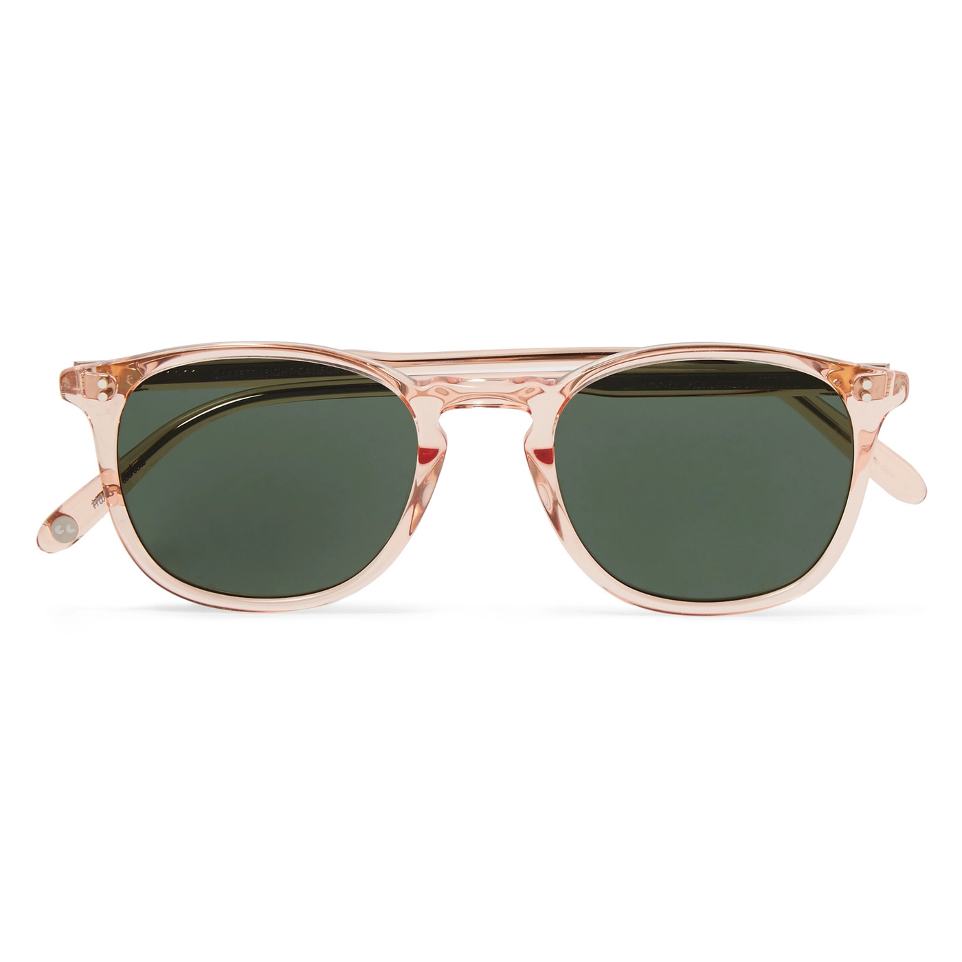 Style Mr Porter Lunettes de Soleil Garrett Leight Transparente Acetate Rose