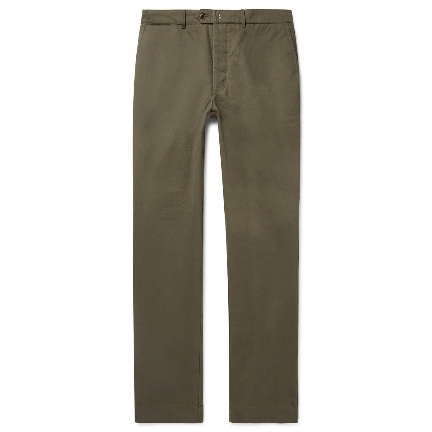 Style Mr Porter Pantalon Chinos Officine Générale vert