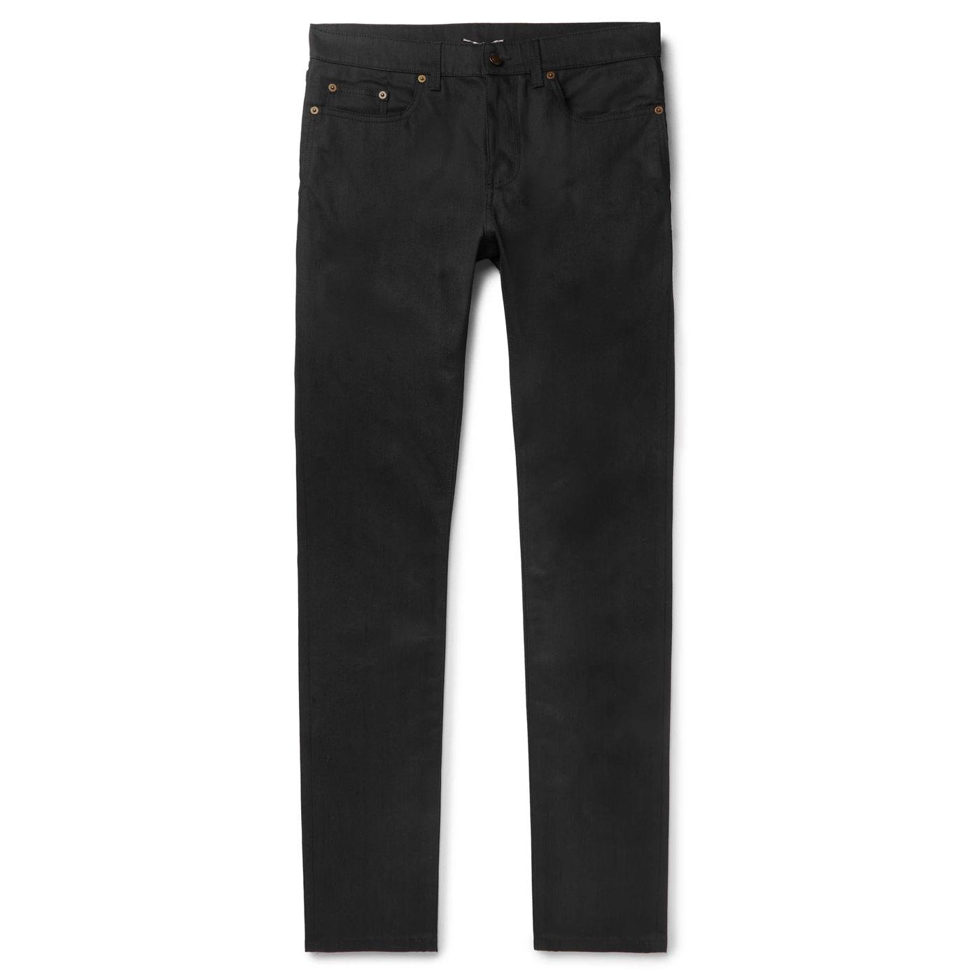 Style Mr Porter Jean Denim Noir Saint Laurent
