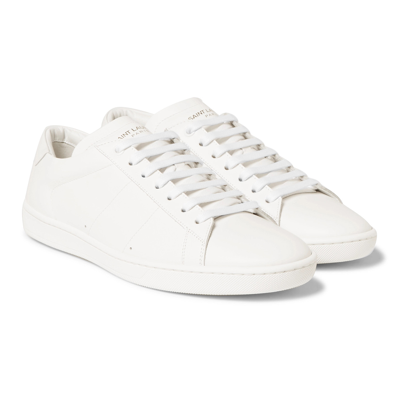 Style Mr Porter Sneakers Saint Laurent Cuir Blanc